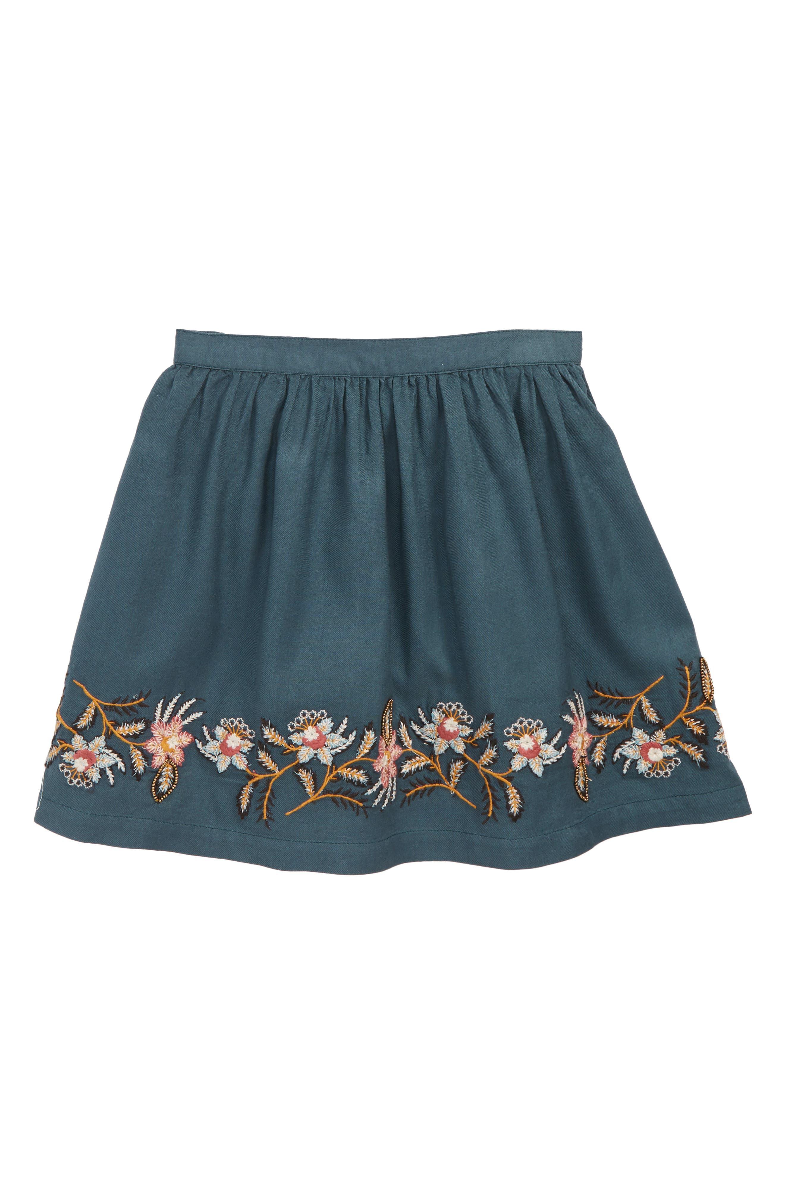 Toddler Girls Peek Embroidered Skirt Size 3T  Green