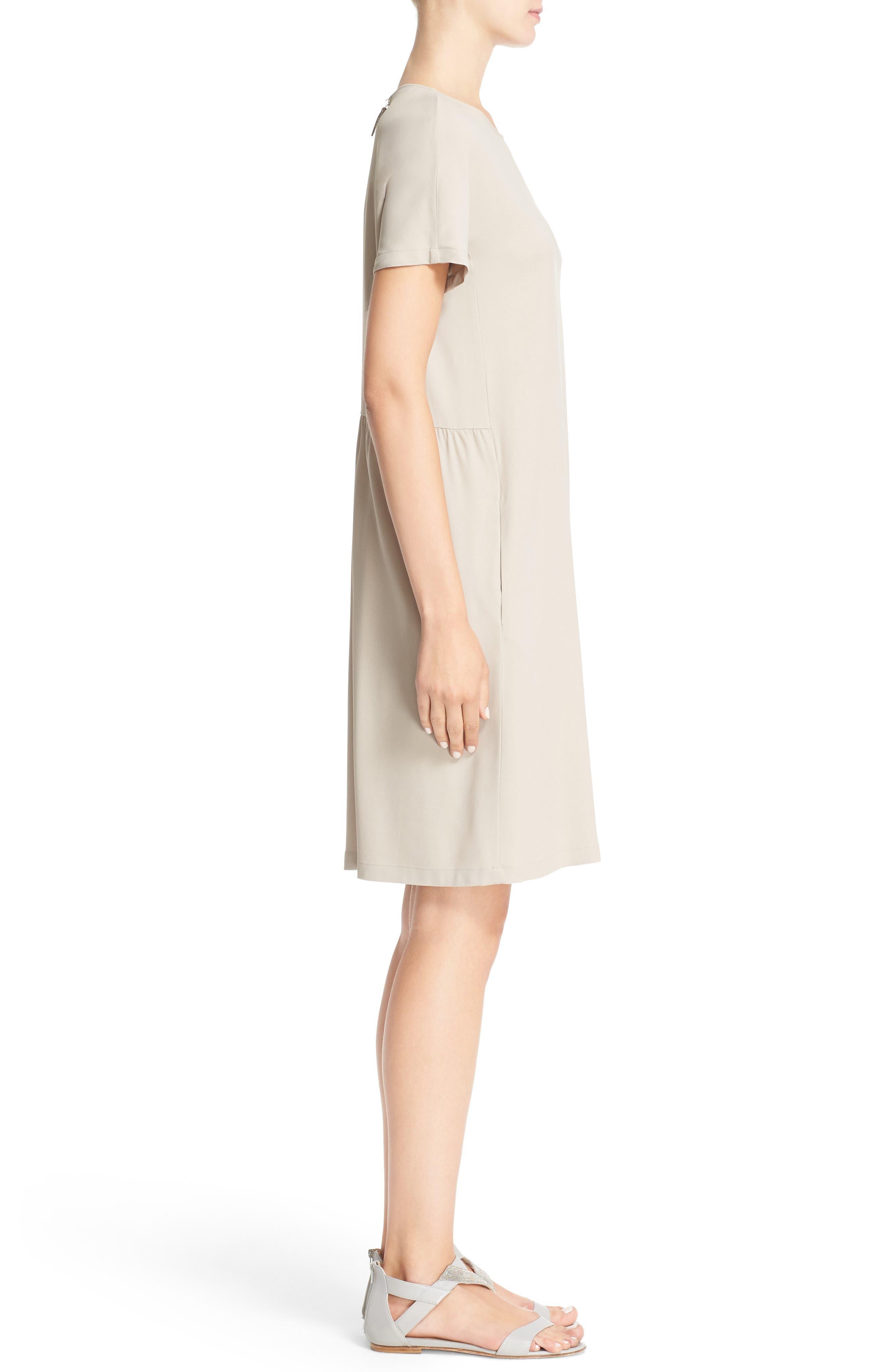 Stretch Cotton Poplin Dress,                             Alternate thumbnail 3, color,                             250