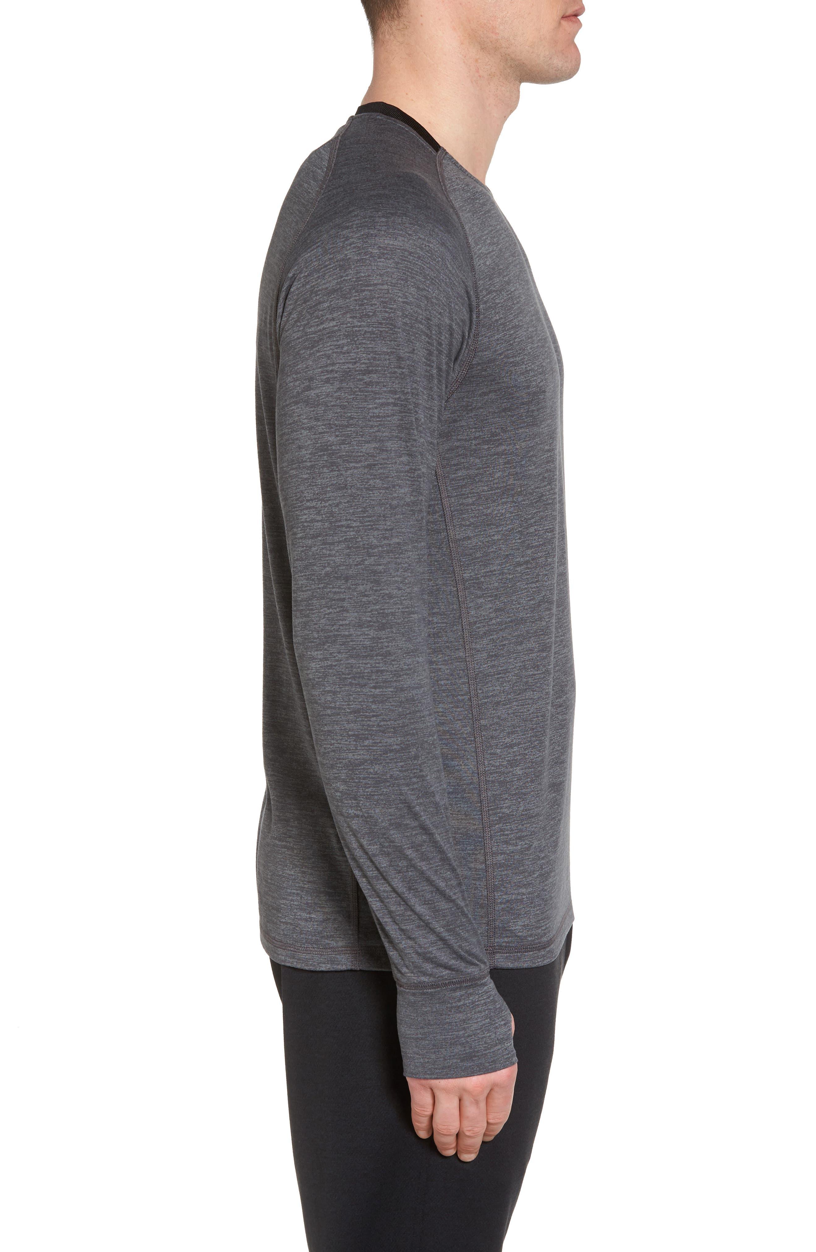 Larosite Athletic Fit T-Shirt,                             Alternate thumbnail 3, color,                             GREY EBONY MELANGE