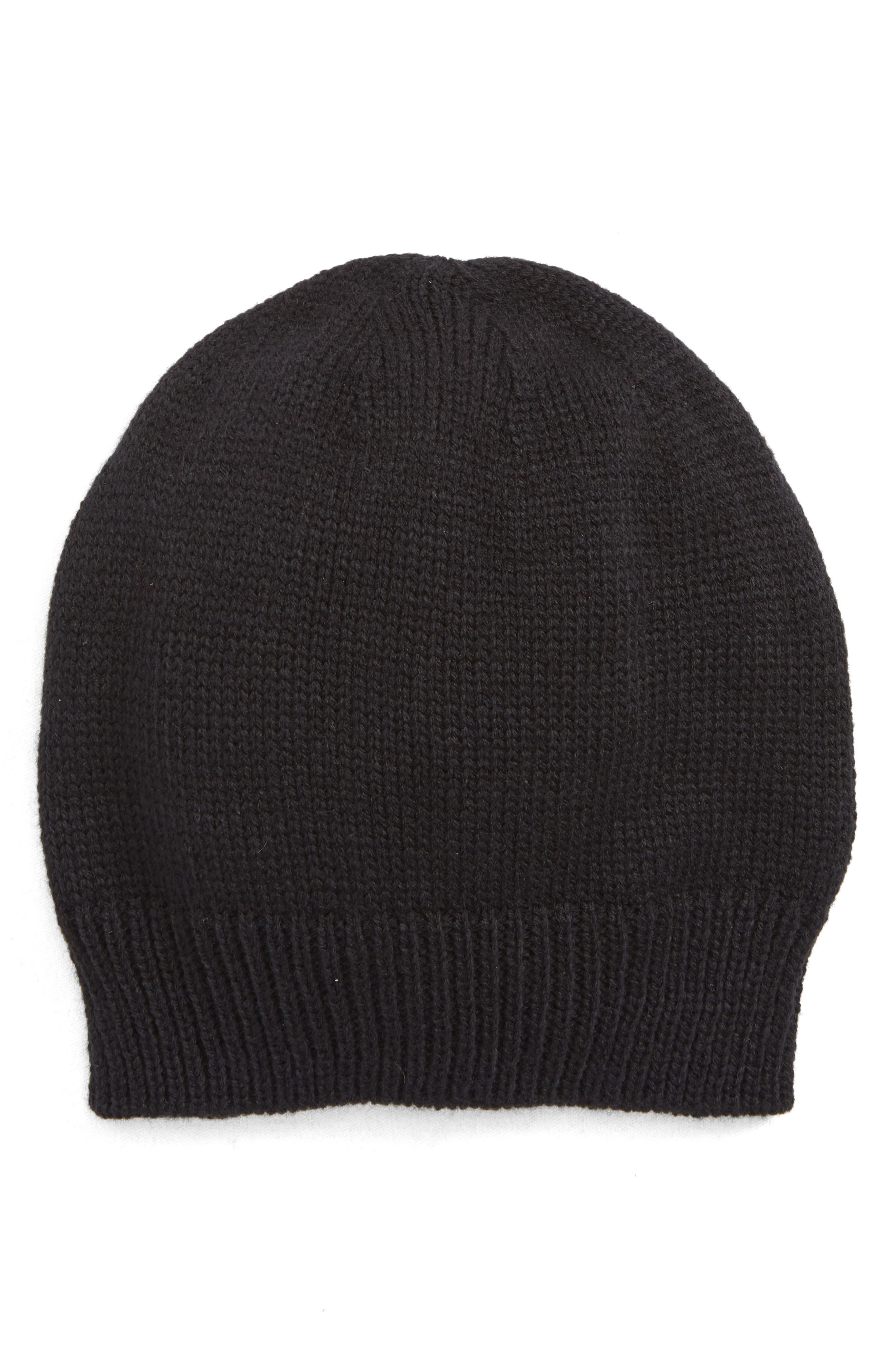 Snap Band Beanie,                         Main,                         color, BLACK