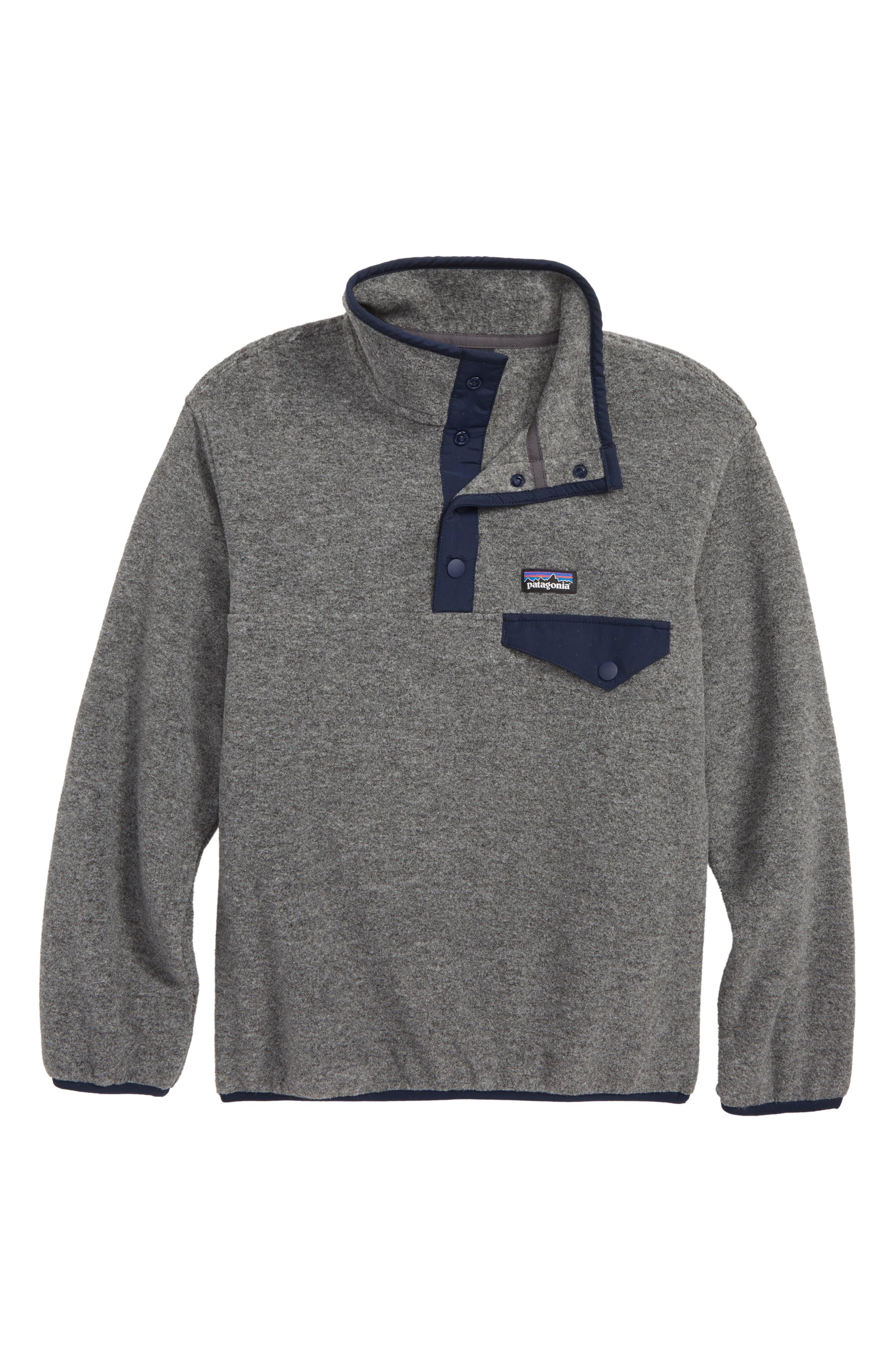 Boys Patagonia Synchilla SnapT Fleece Pullover Size XL (14)  Blue