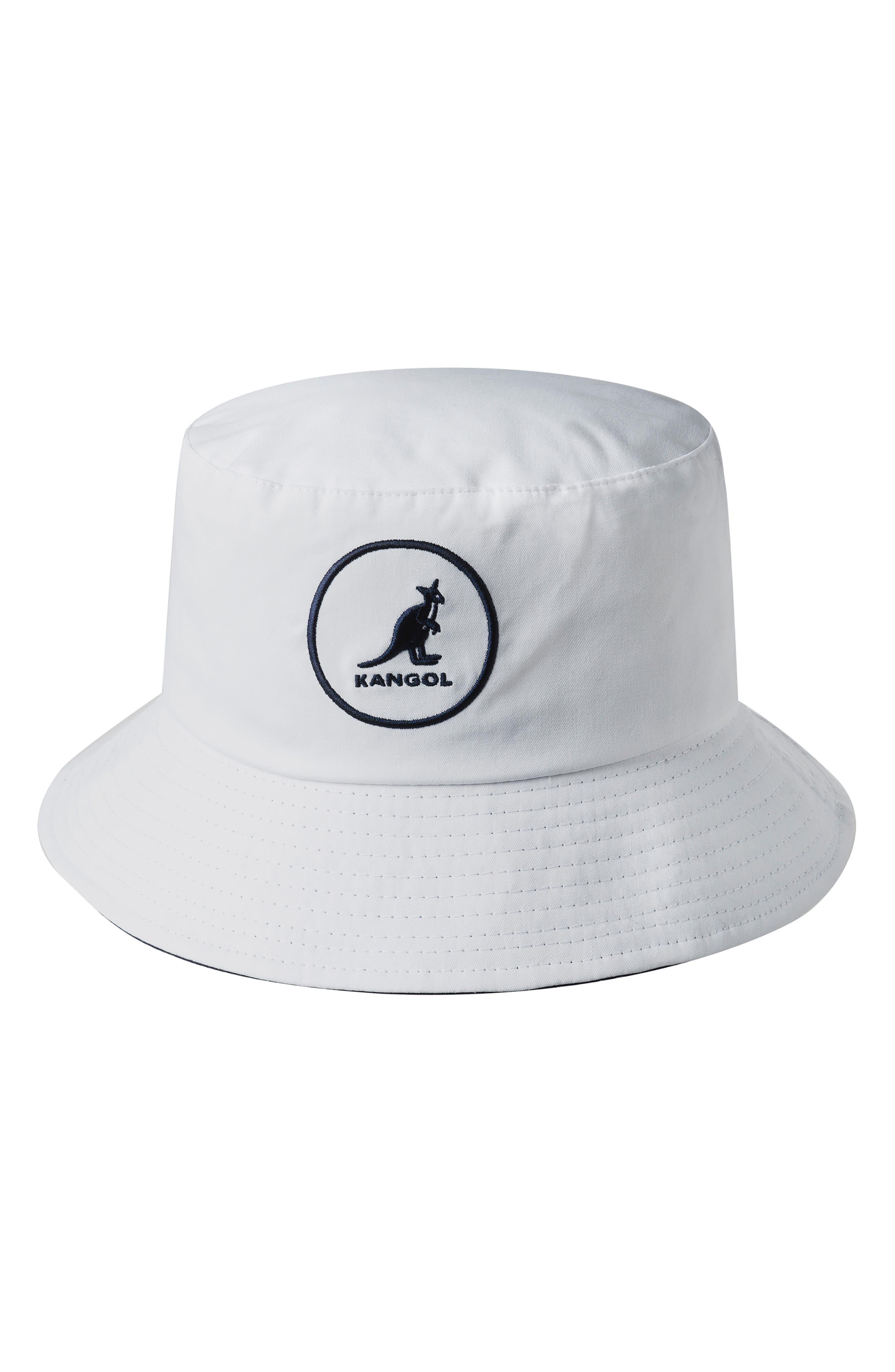 KANGOL Cotton Bucket Hat - White