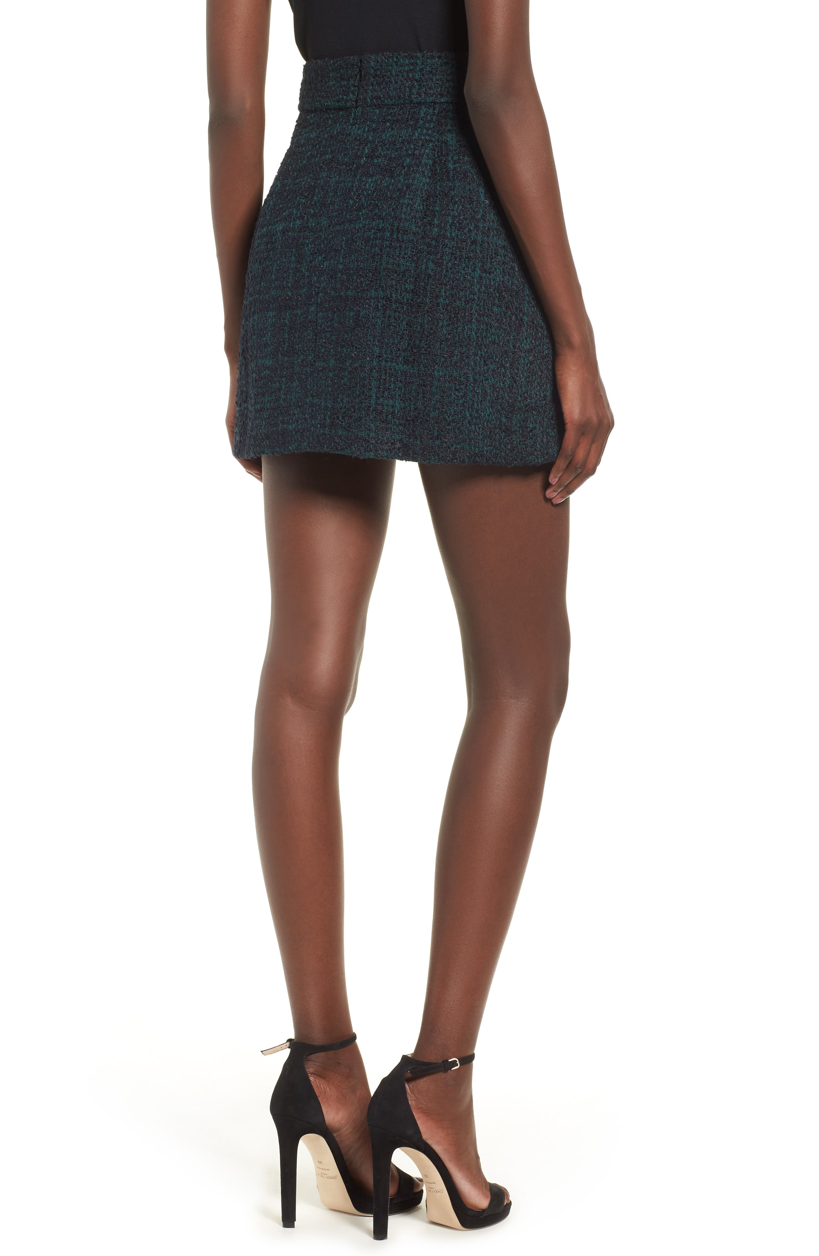 Tweed Miniskirt,                             Alternate thumbnail 2, color,                             021