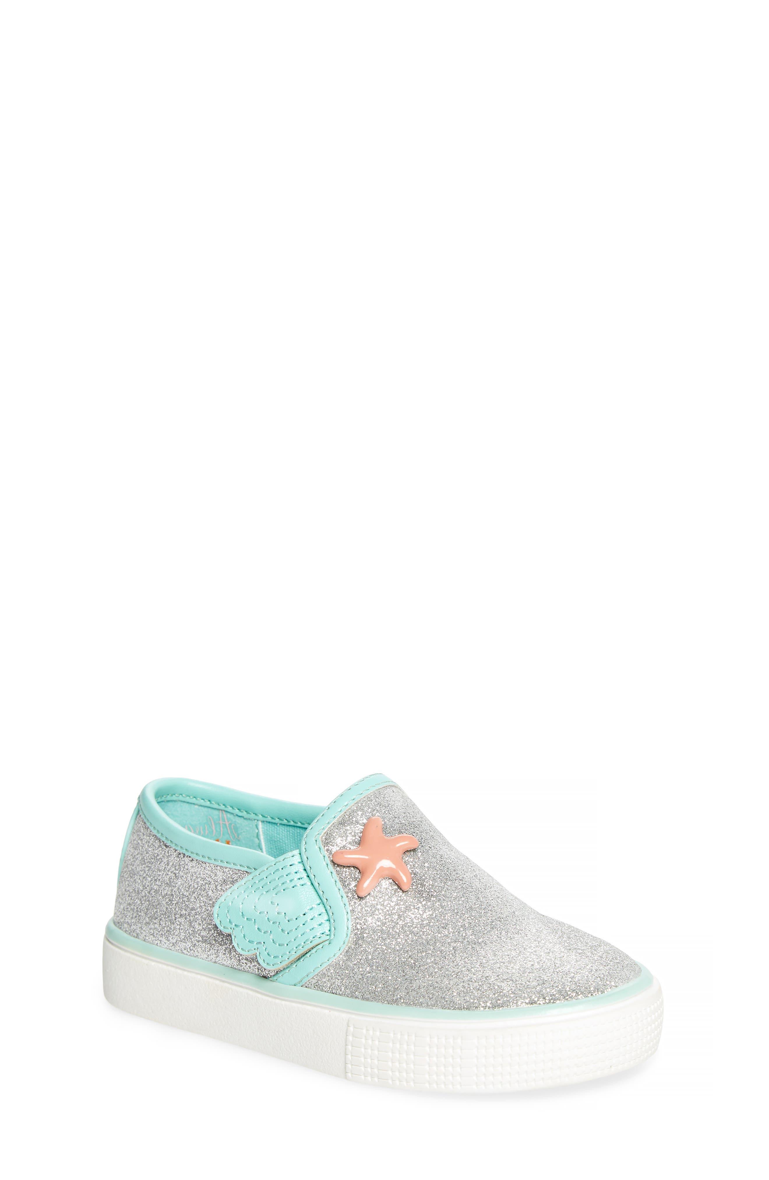 Camille Glitter Slip-On Sneaker,                             Main thumbnail 1, color,                             040