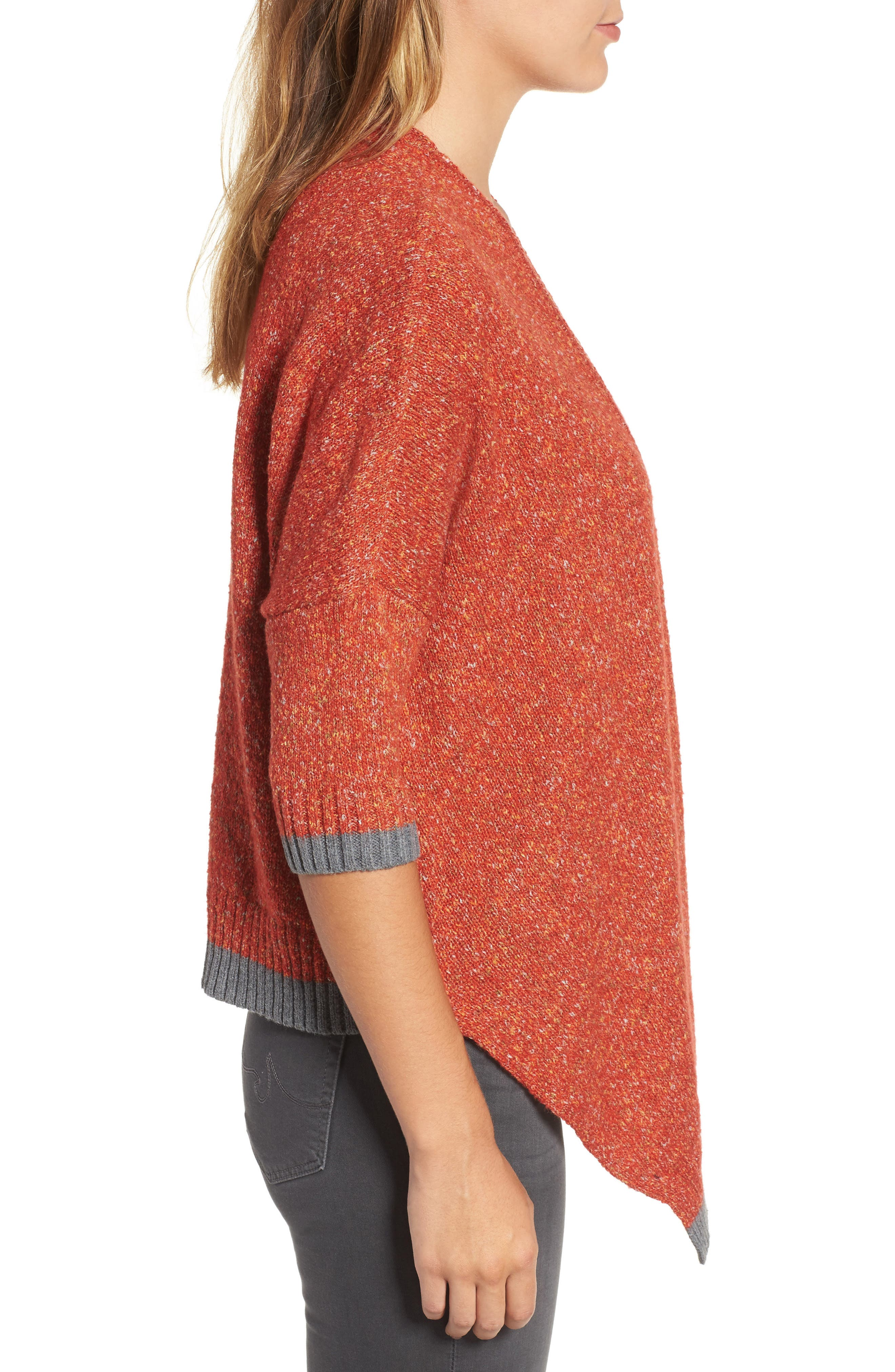 Open Front Knit Cardigan,                             Alternate thumbnail 3, color,                             805