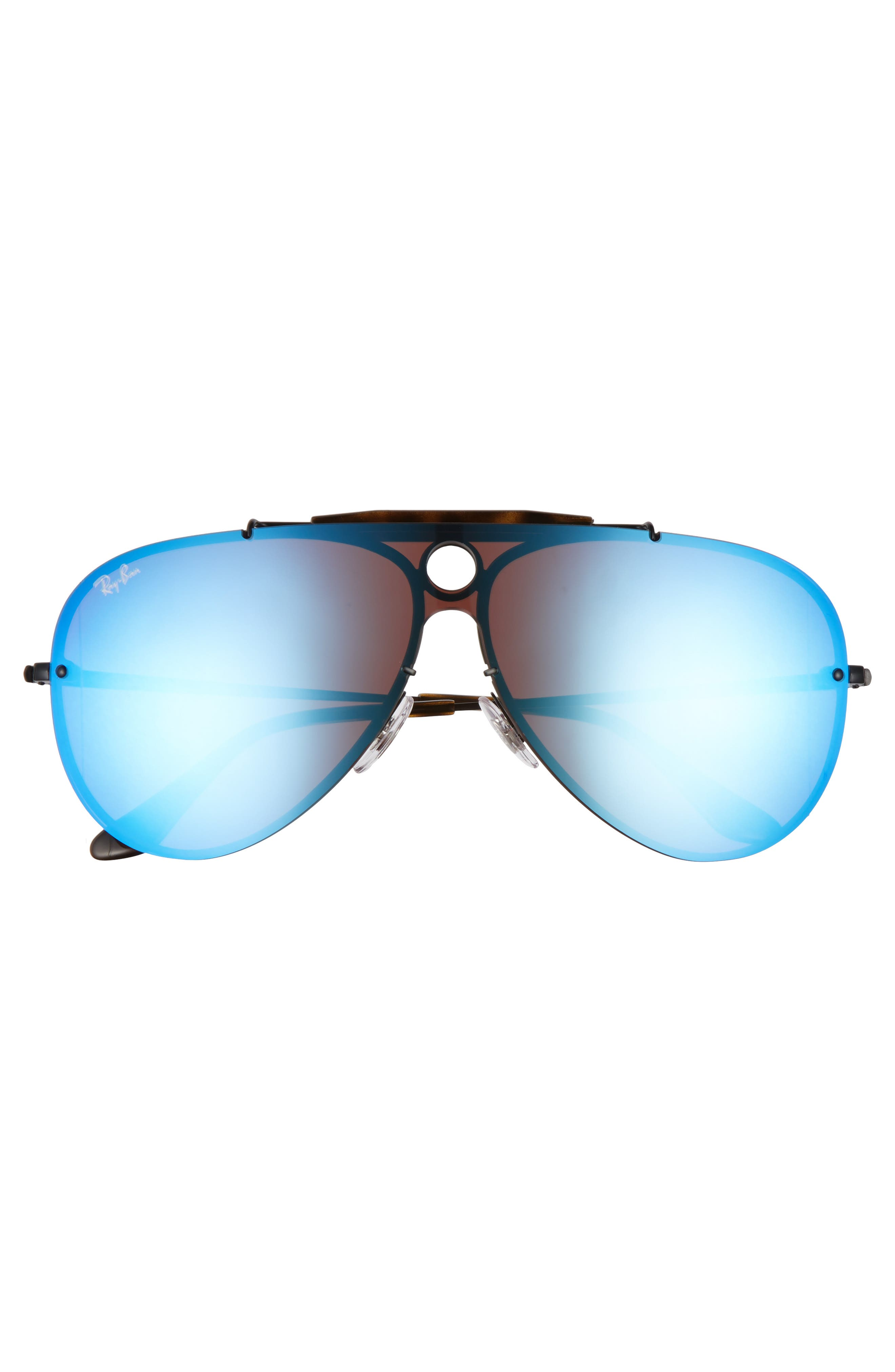 Aviator Shield Sunglasses,                             Alternate thumbnail 3, color,                             001