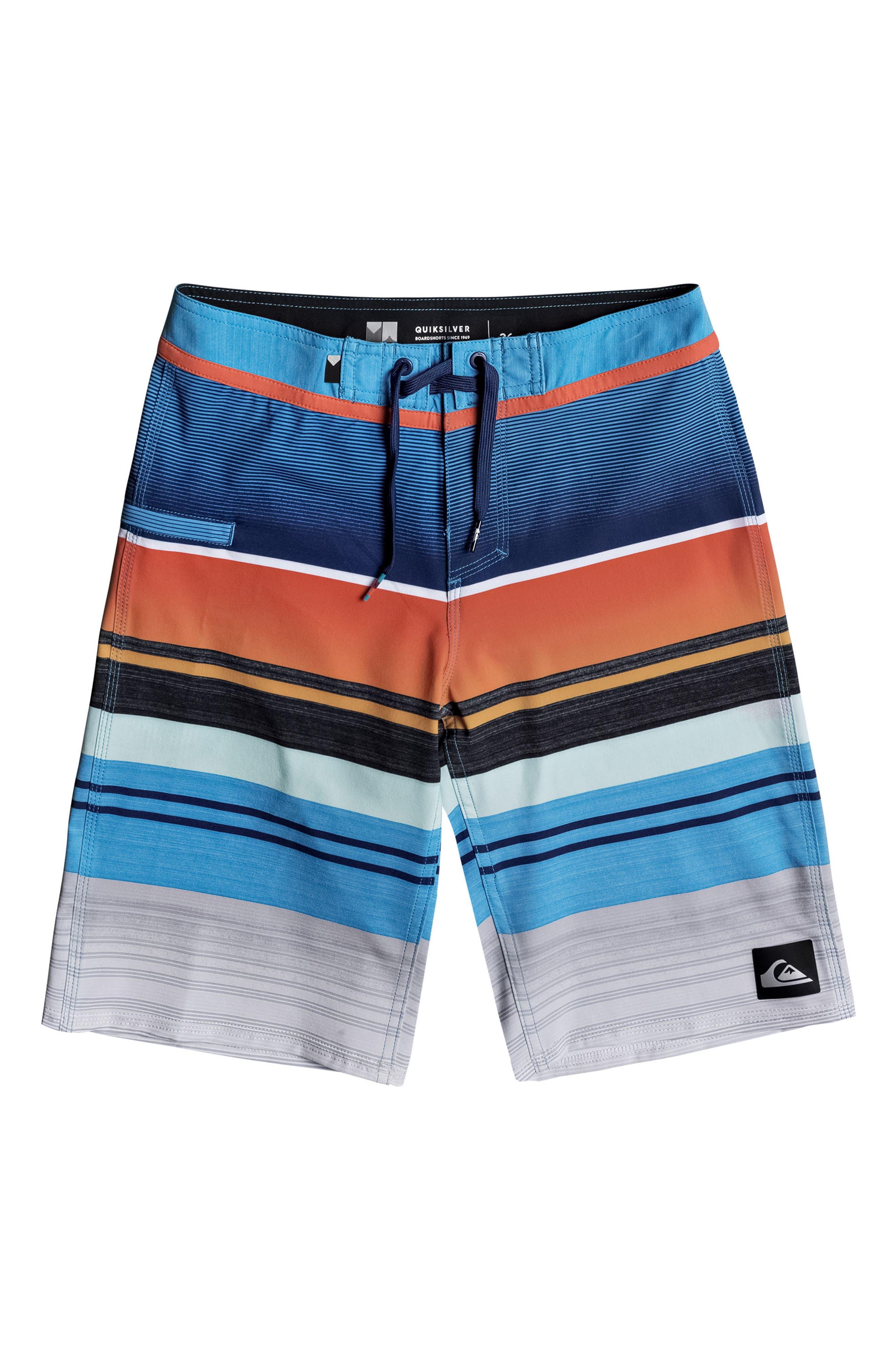 Everyday Stripe Vee Board Shorts,                             Main thumbnail 6, color,