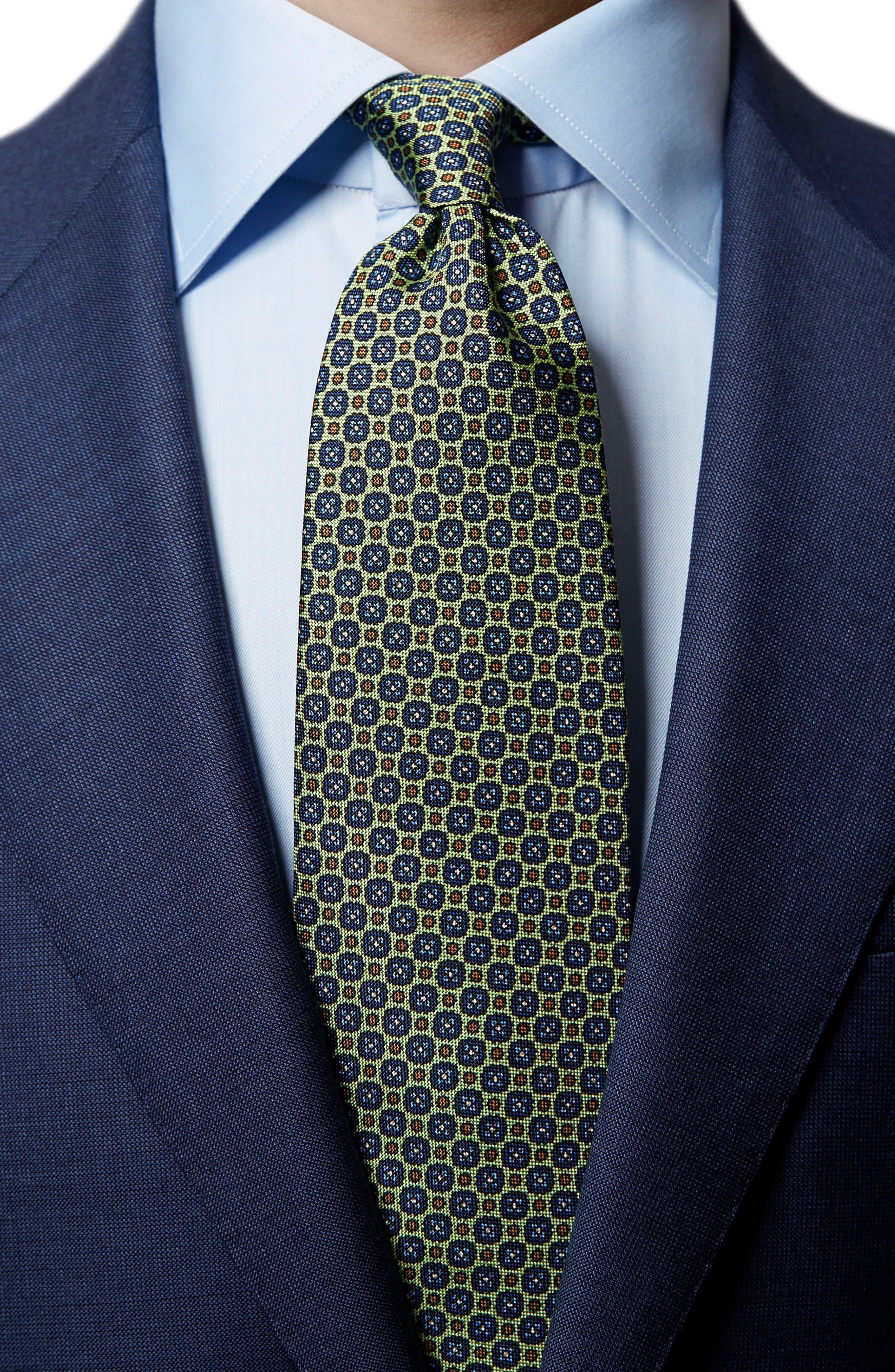Medallion Silk Tie,                             Alternate thumbnail 3, color,                             300