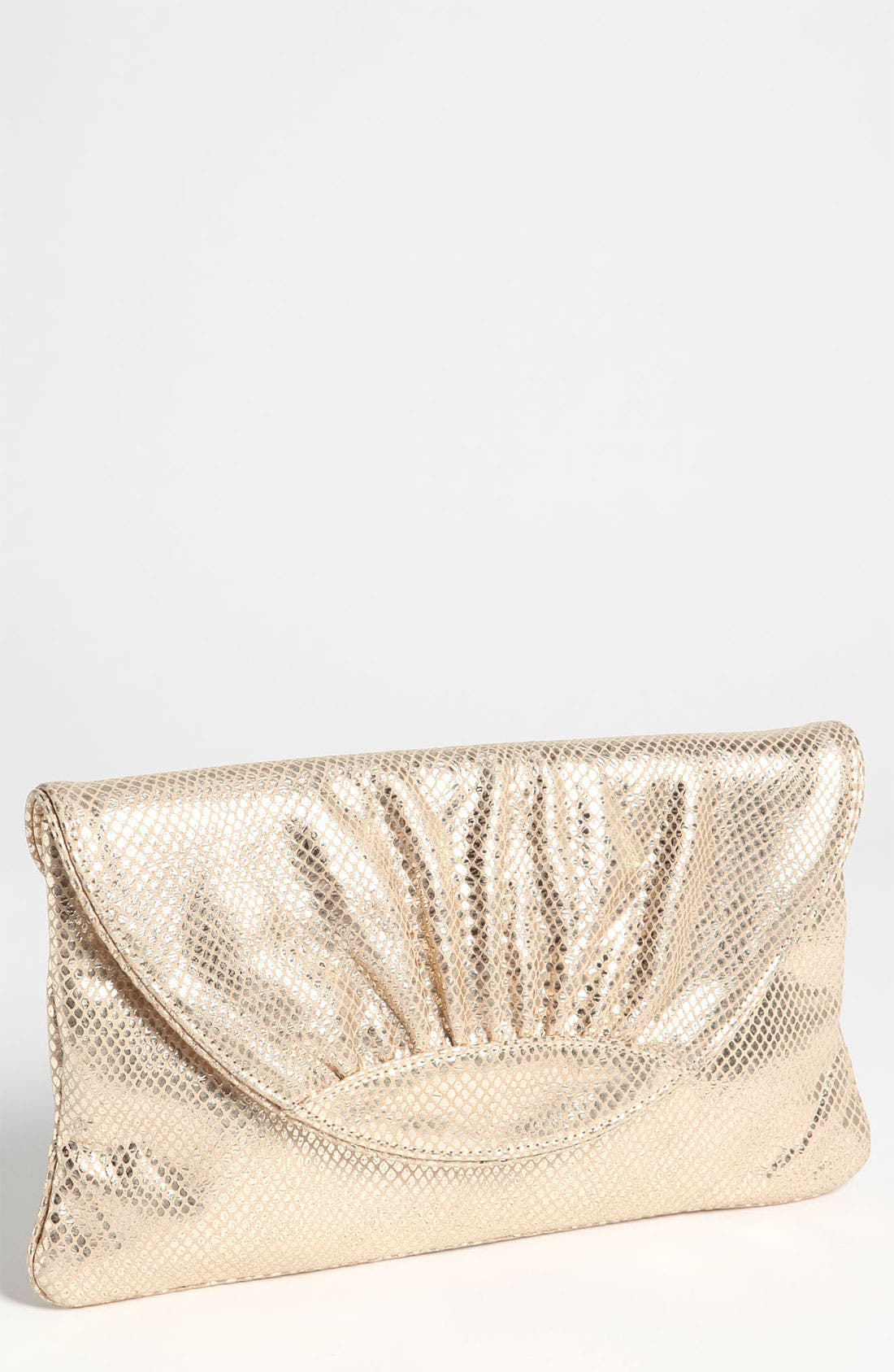 'Ava' Snake Embossed Clutch,                             Main thumbnail 2, color,