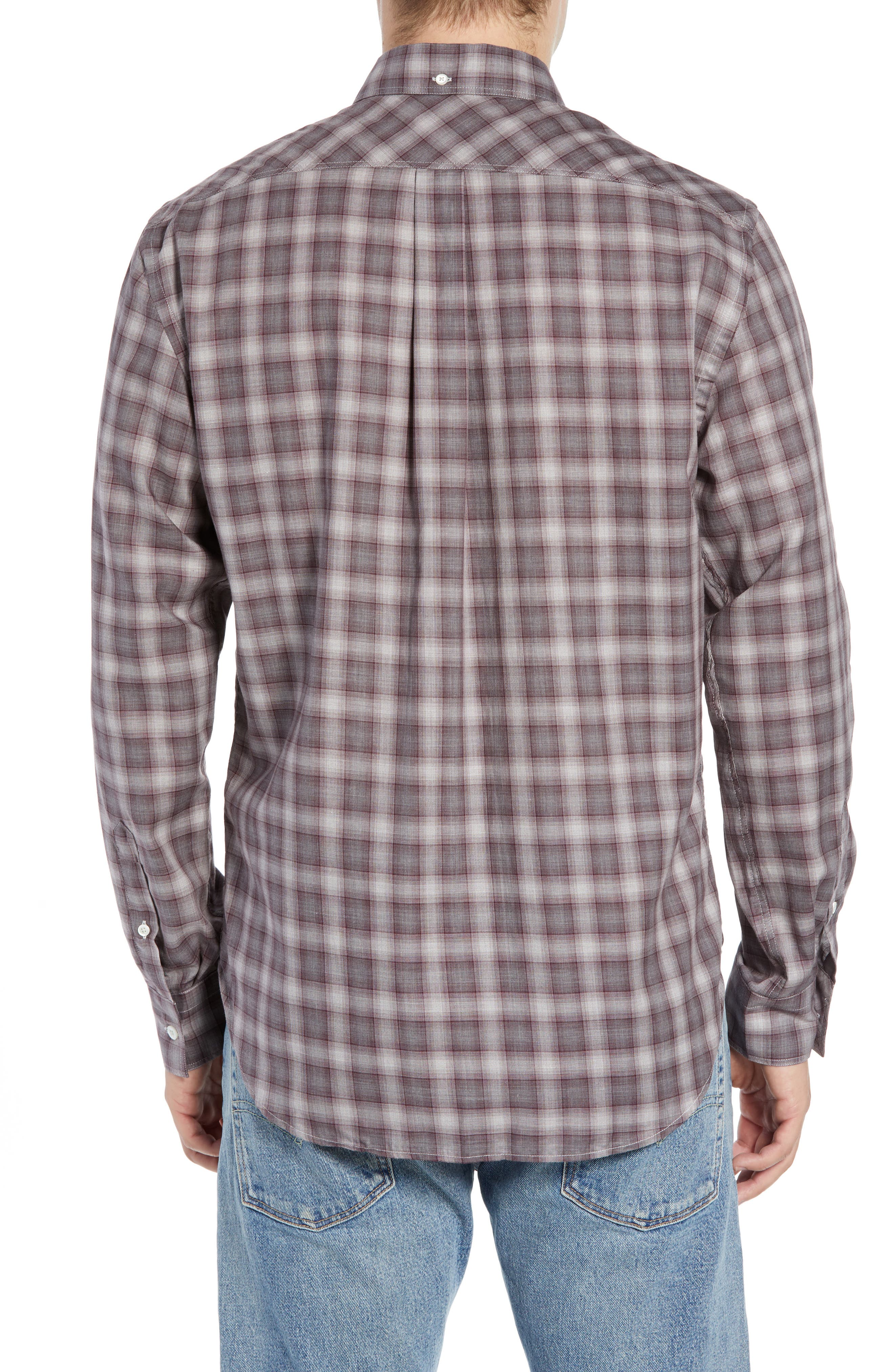 Tuscumbia Regular Fit Plaid Sport Shirt,                             Alternate thumbnail 3, color,                             930