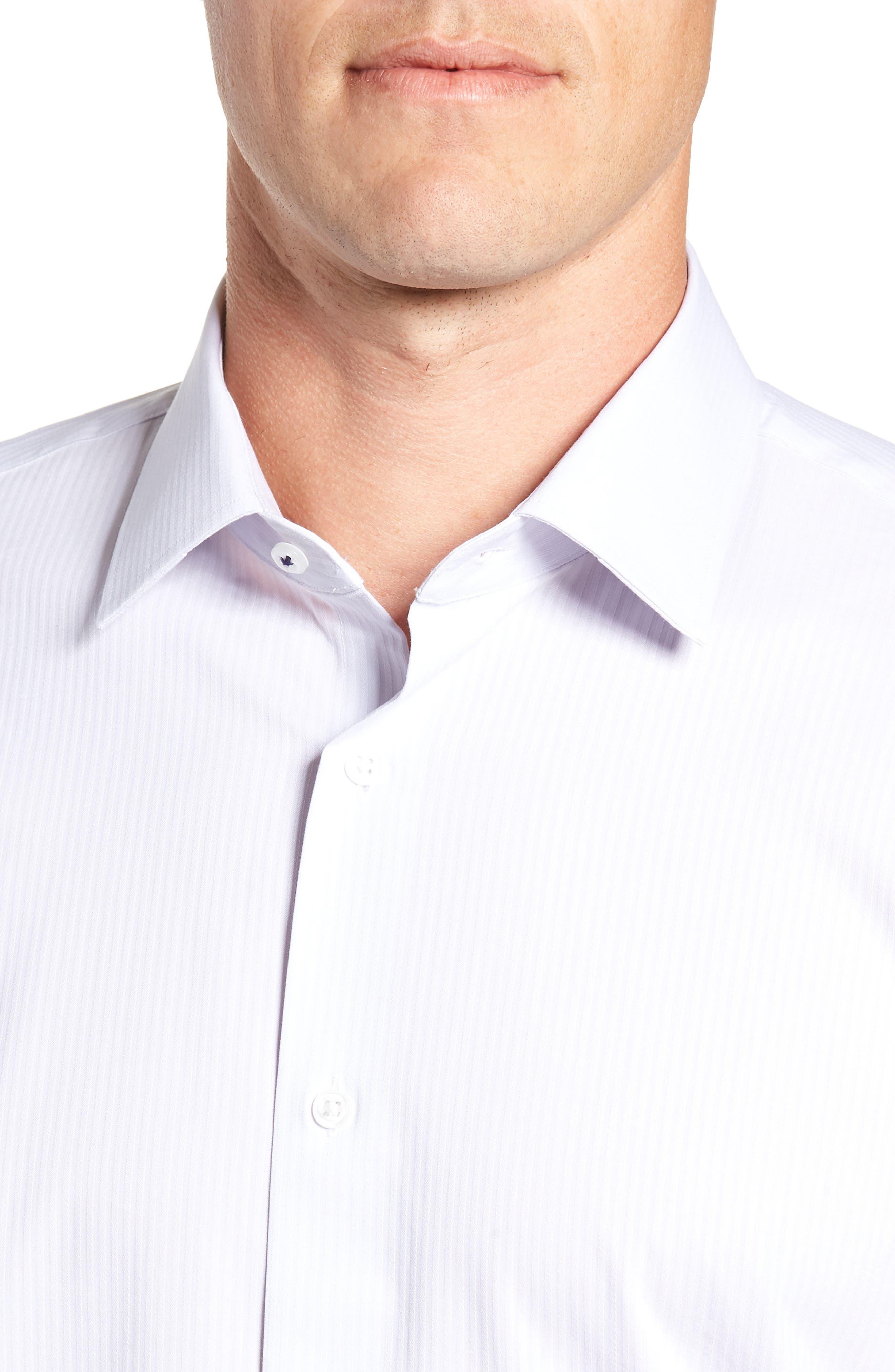 NORDSTROM MEN'S SHOP,                             Tech-Smart Trim Fit Stretch Stripe Dress Shirt,                             Alternate thumbnail 2, color,                             050