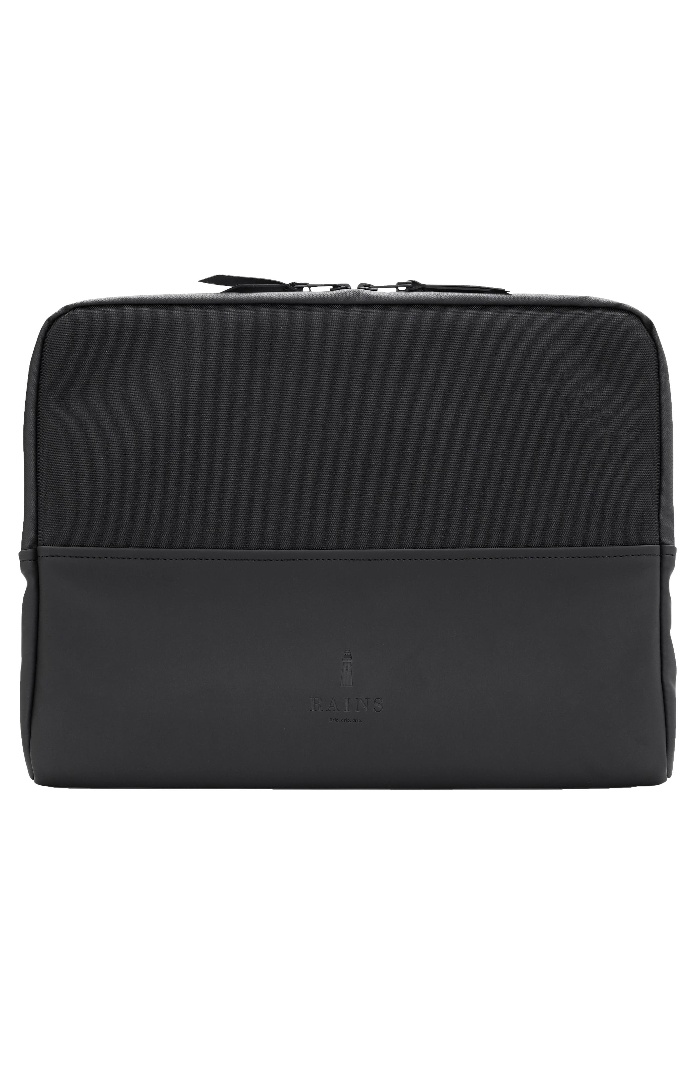 RAINS,                             13-Inch Laptop Sleeve,                             Alternate thumbnail 3, color,                             BLACK