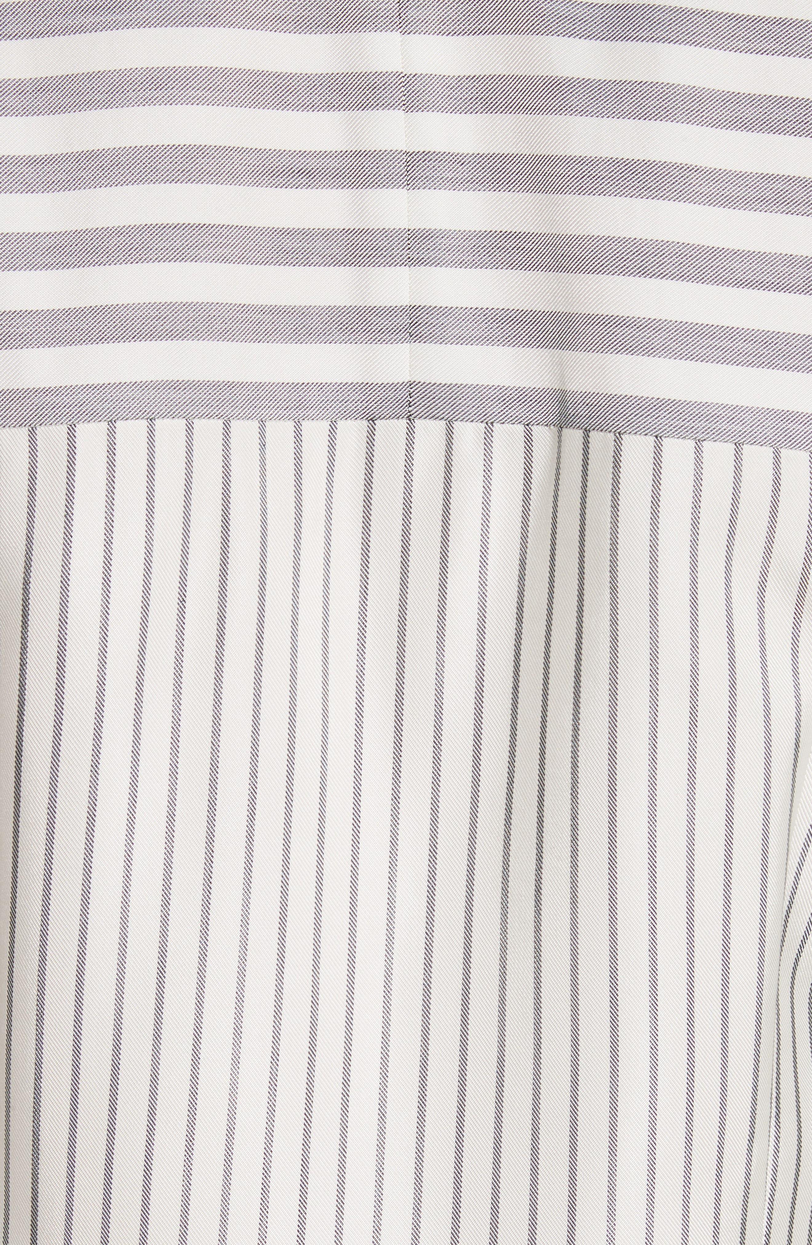 ST. JOHN COLLECTION,                             Stripe Tie Neck Shirtdress,                             Alternate thumbnail 6, color,                             900