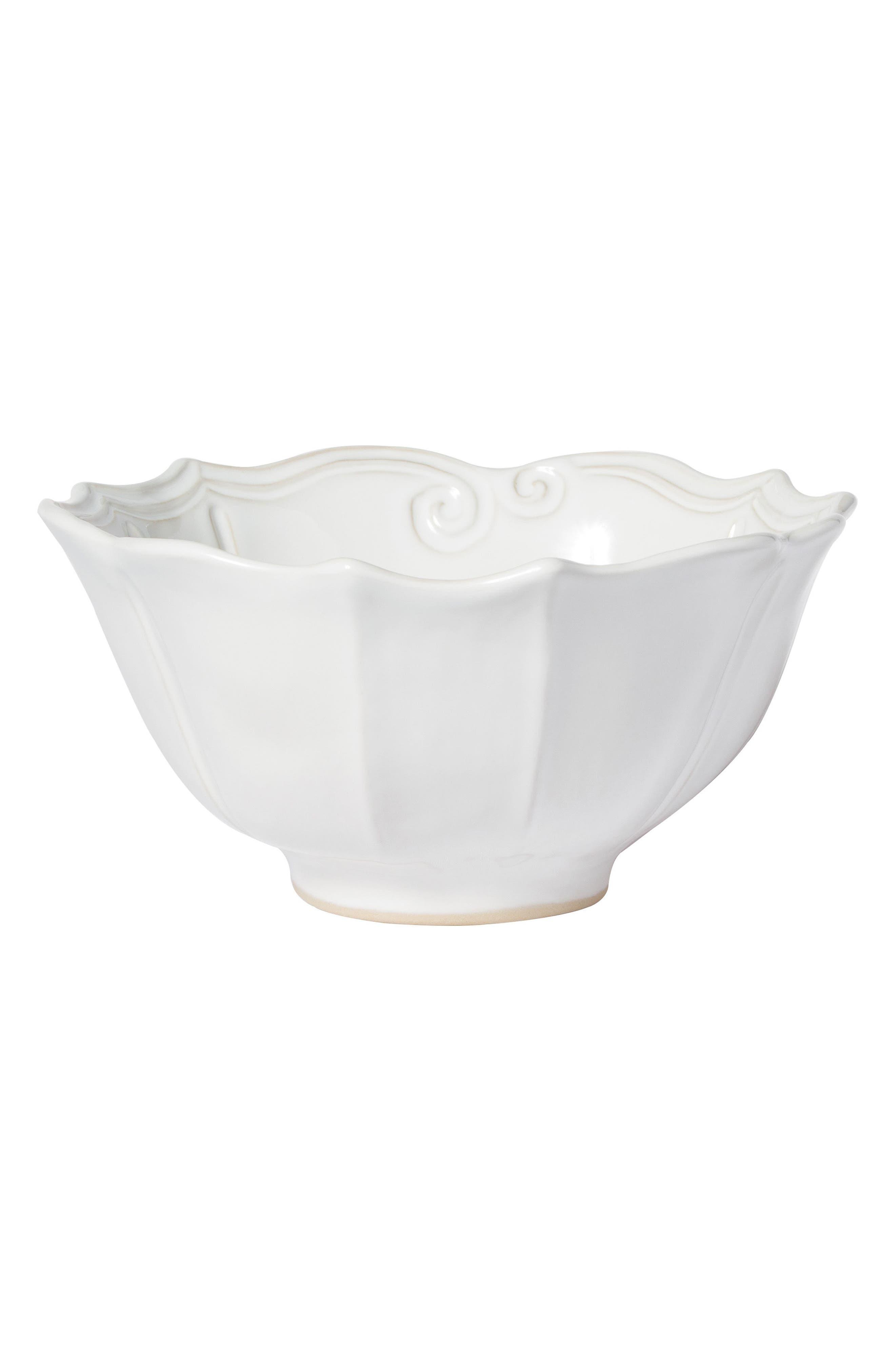 Incanto Stone Baroque Medium Serving Bowl,                             Main thumbnail 1, color,                             WHITE