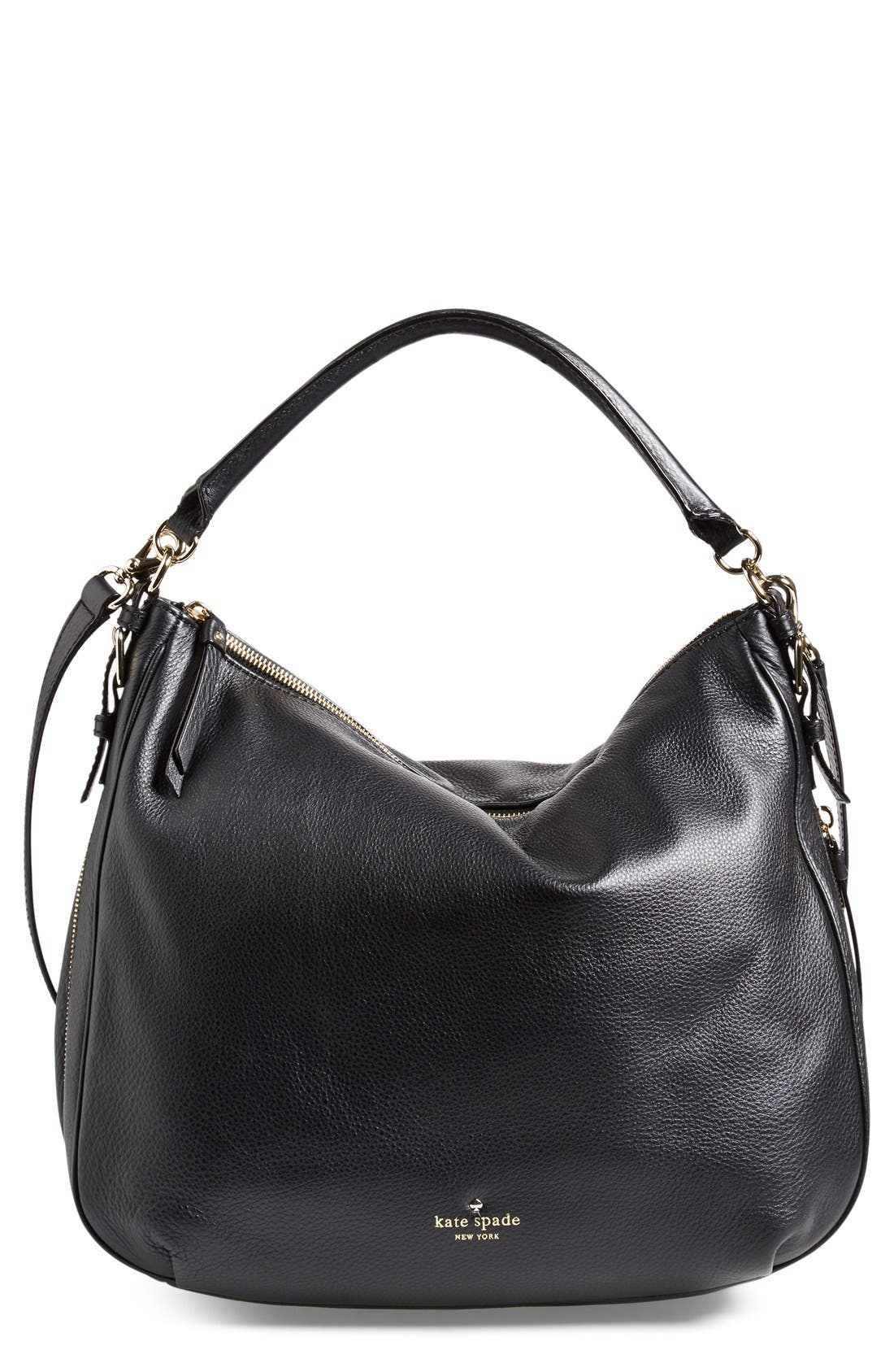 'cobble hill - ella' leather hobo, Main, color, 001