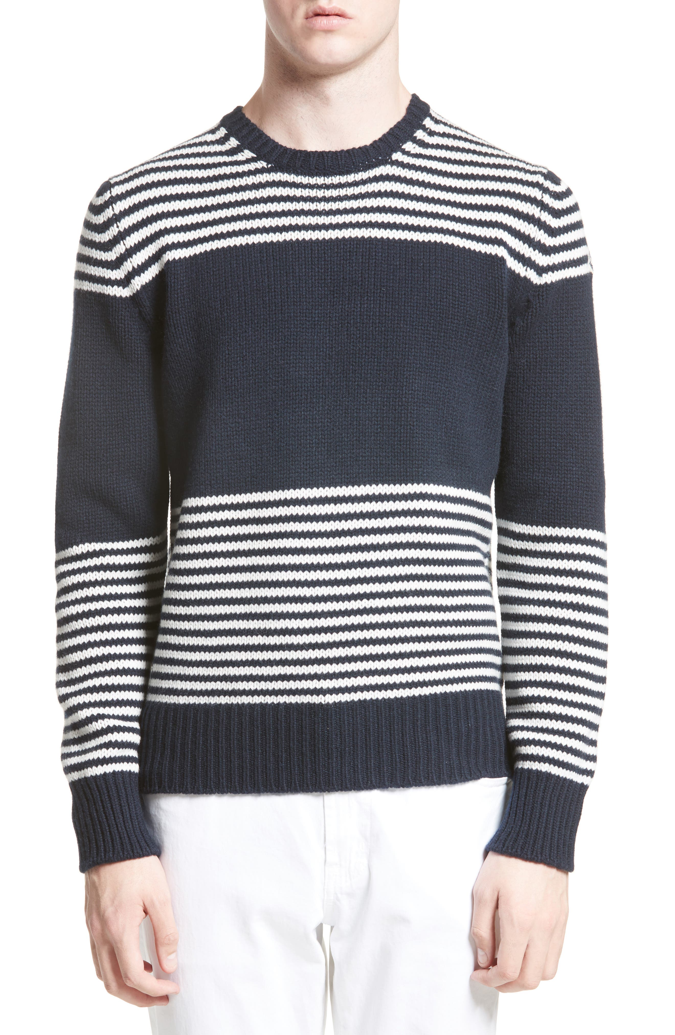 Maglione Stripe Wool & Cashmere Sweater,                             Alternate thumbnail 4, color,                             419