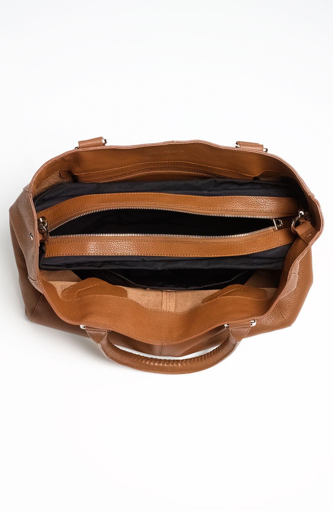 'Mila' Leather Shoulder Bag,                             Alternate thumbnail 4, color,                             212