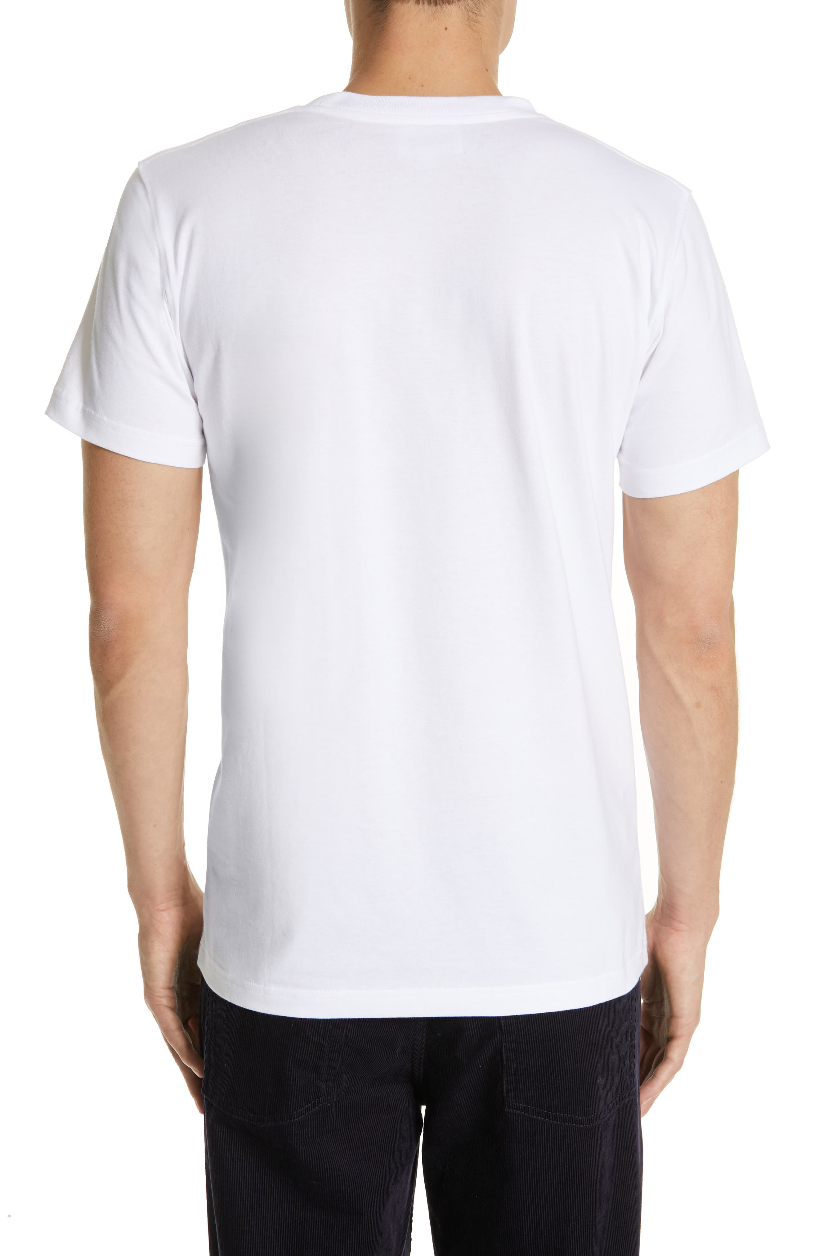 Niels Crewneck T-Shirt,                             Alternate thumbnail 2, color,                             WHITE