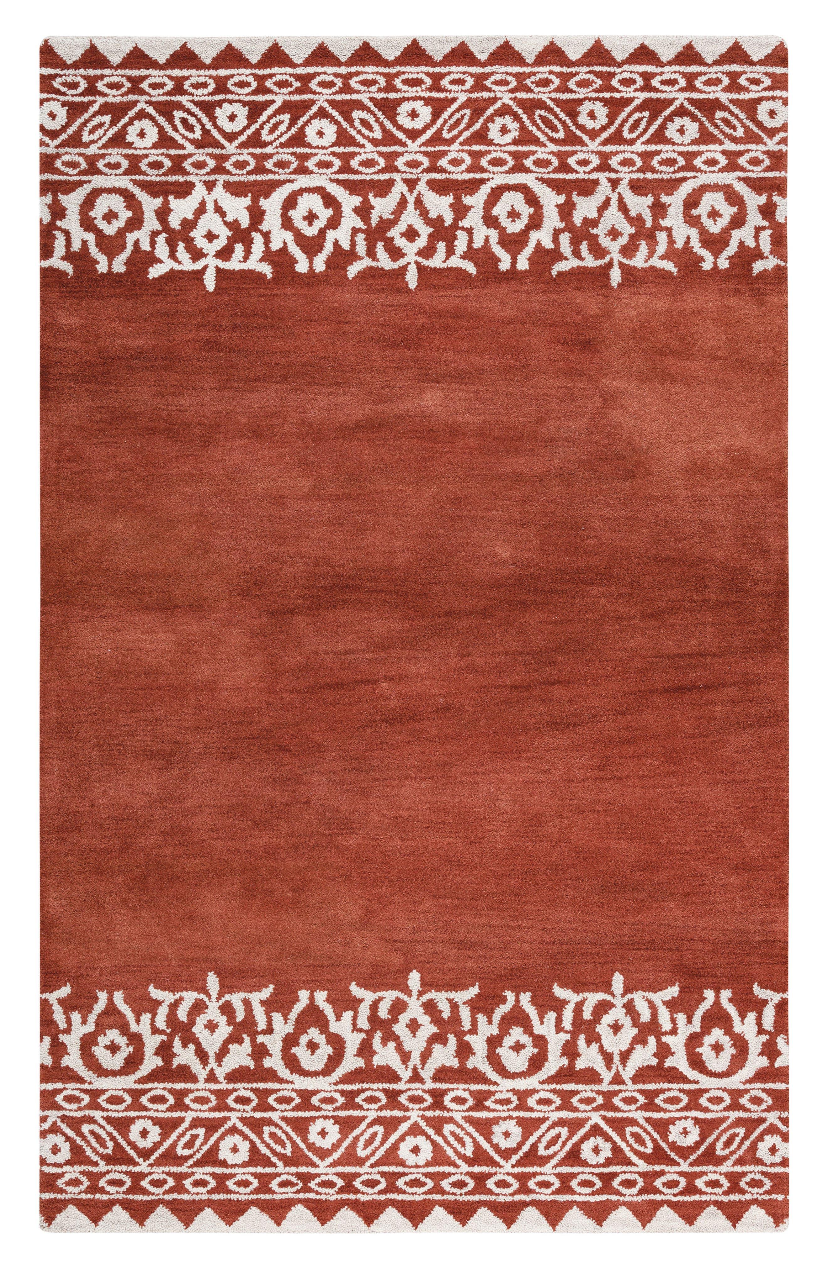 Framed Medallion Hand Tufted Wool Area Rug,                             Main thumbnail 3, color,