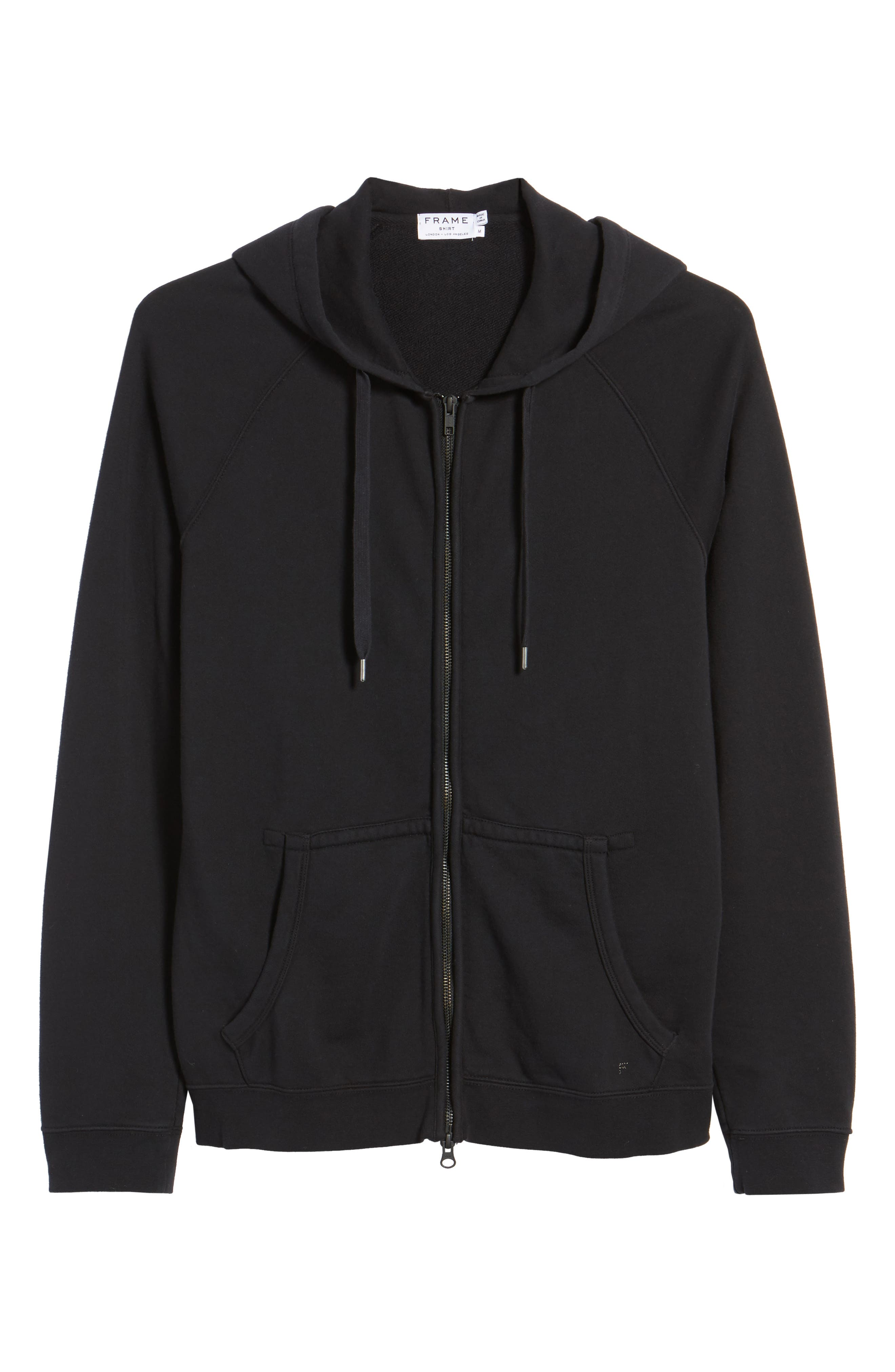 French Terry Zip Hoodie,                             Alternate thumbnail 6, color,                             001