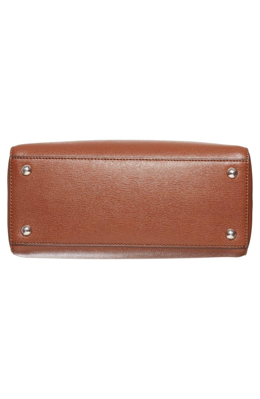 'Petite 2Jours Elite' Leather Shopper,                             Alternate thumbnail 127, color,