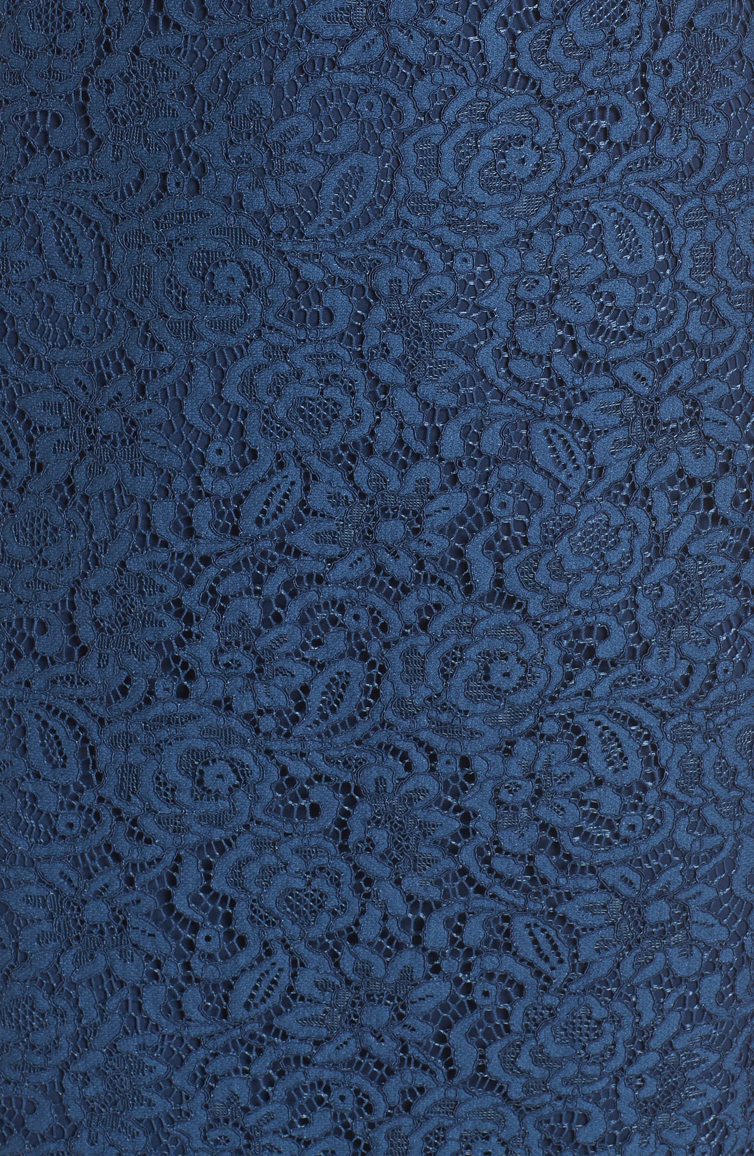 Ginger Rosebud Lace Sheath Dress,                             Alternate thumbnail 6, color,                             462