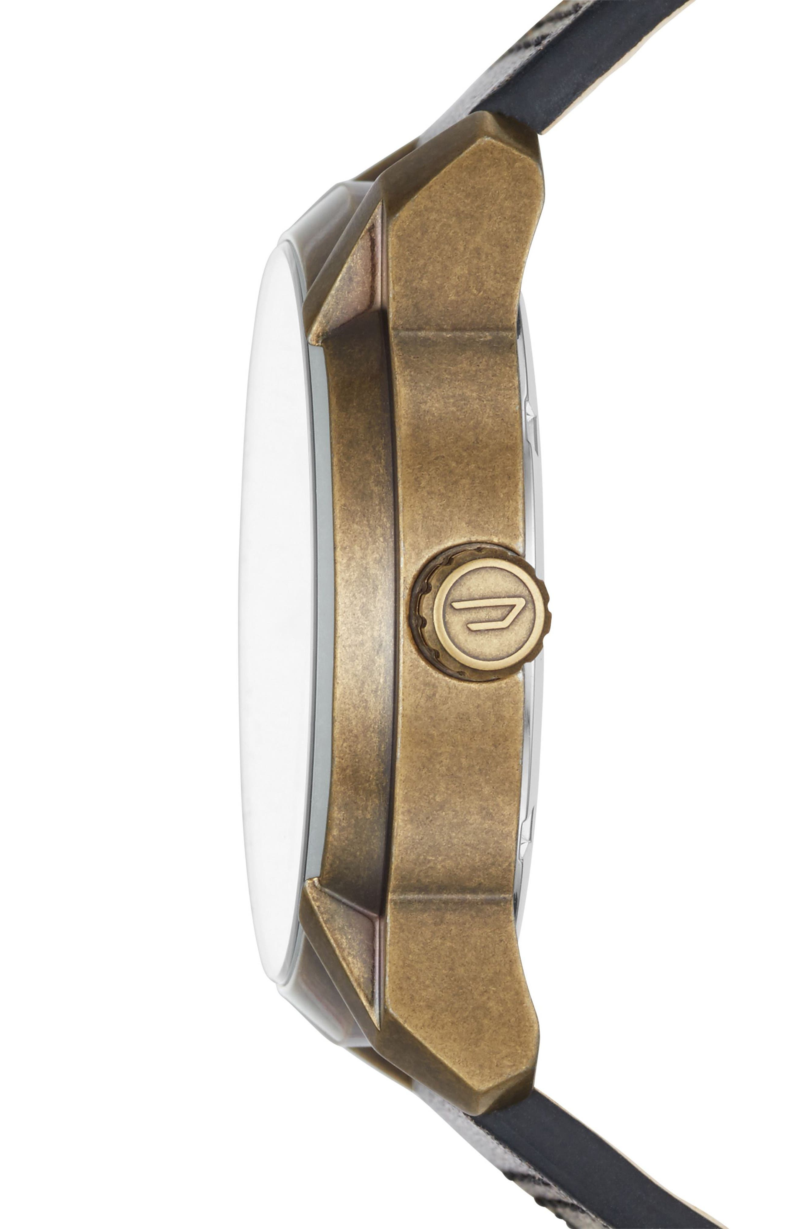 Armbar Leather Strap Watch, 45mm,                             Alternate thumbnail 2, color,
