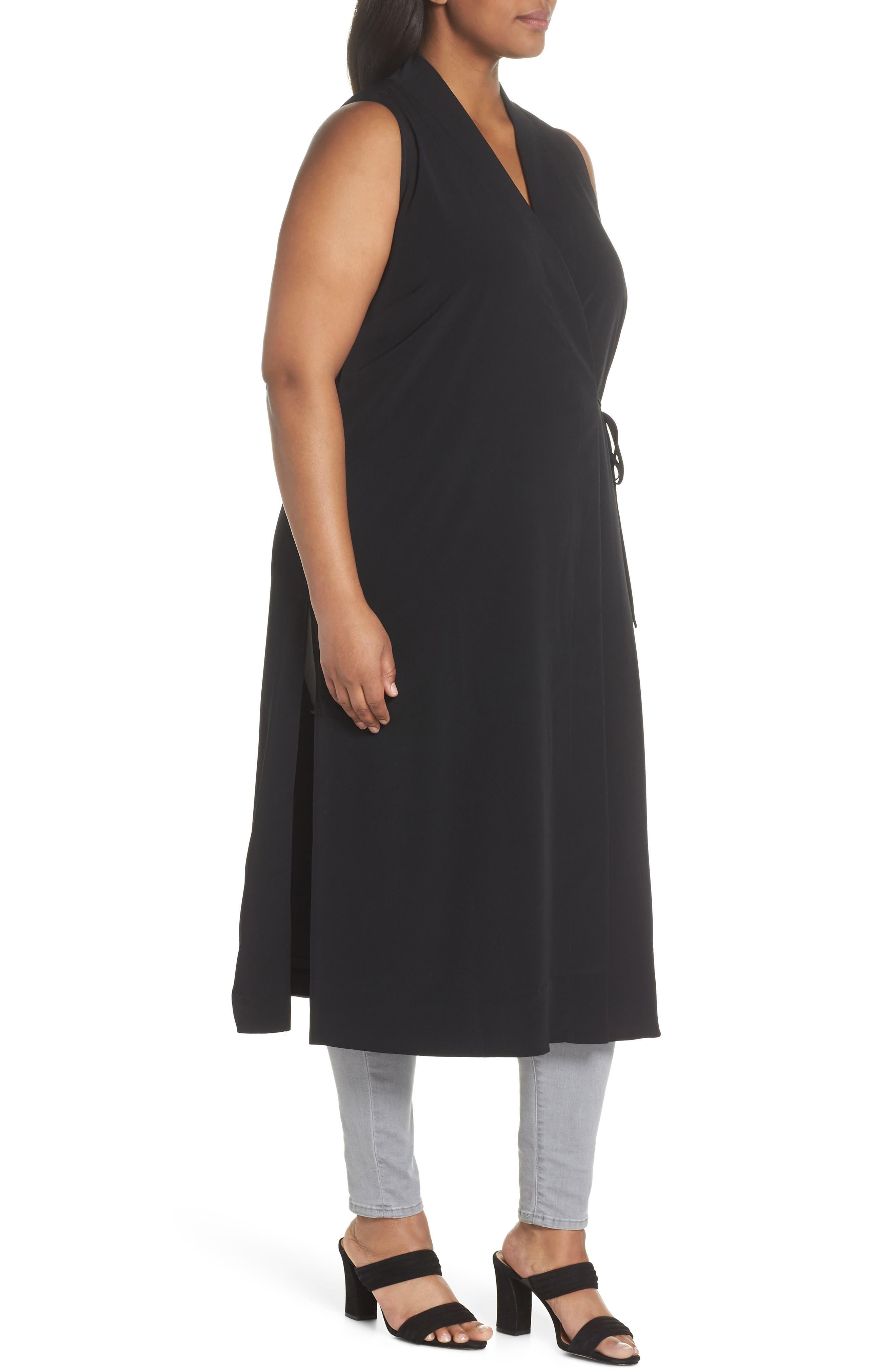 Duster Vest,                             Alternate thumbnail 3, color,                             BLACK