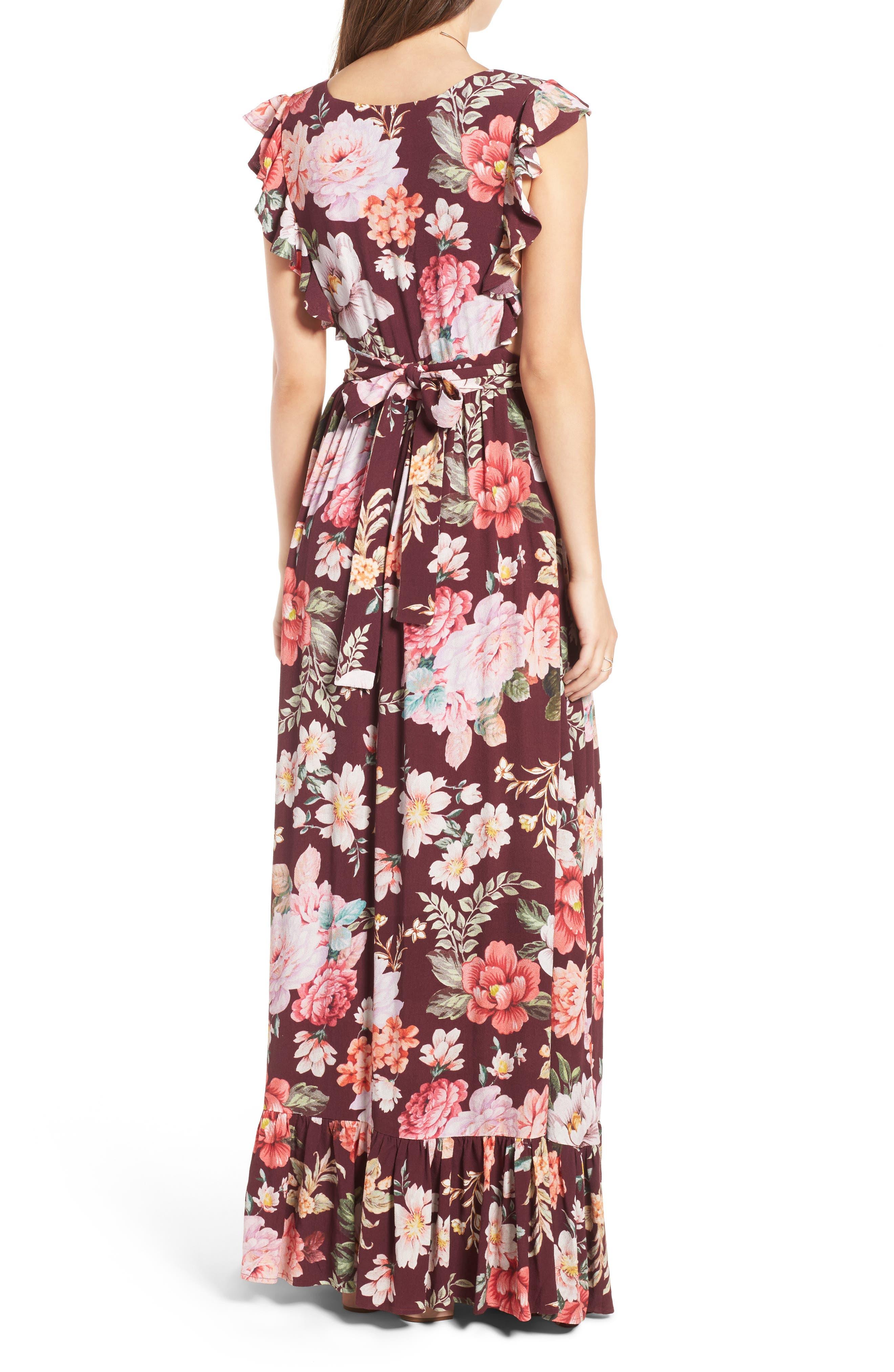 MAJORELLE,                             Sweet Pea Maxi Dress,                             Alternate thumbnail 2, color,                             003