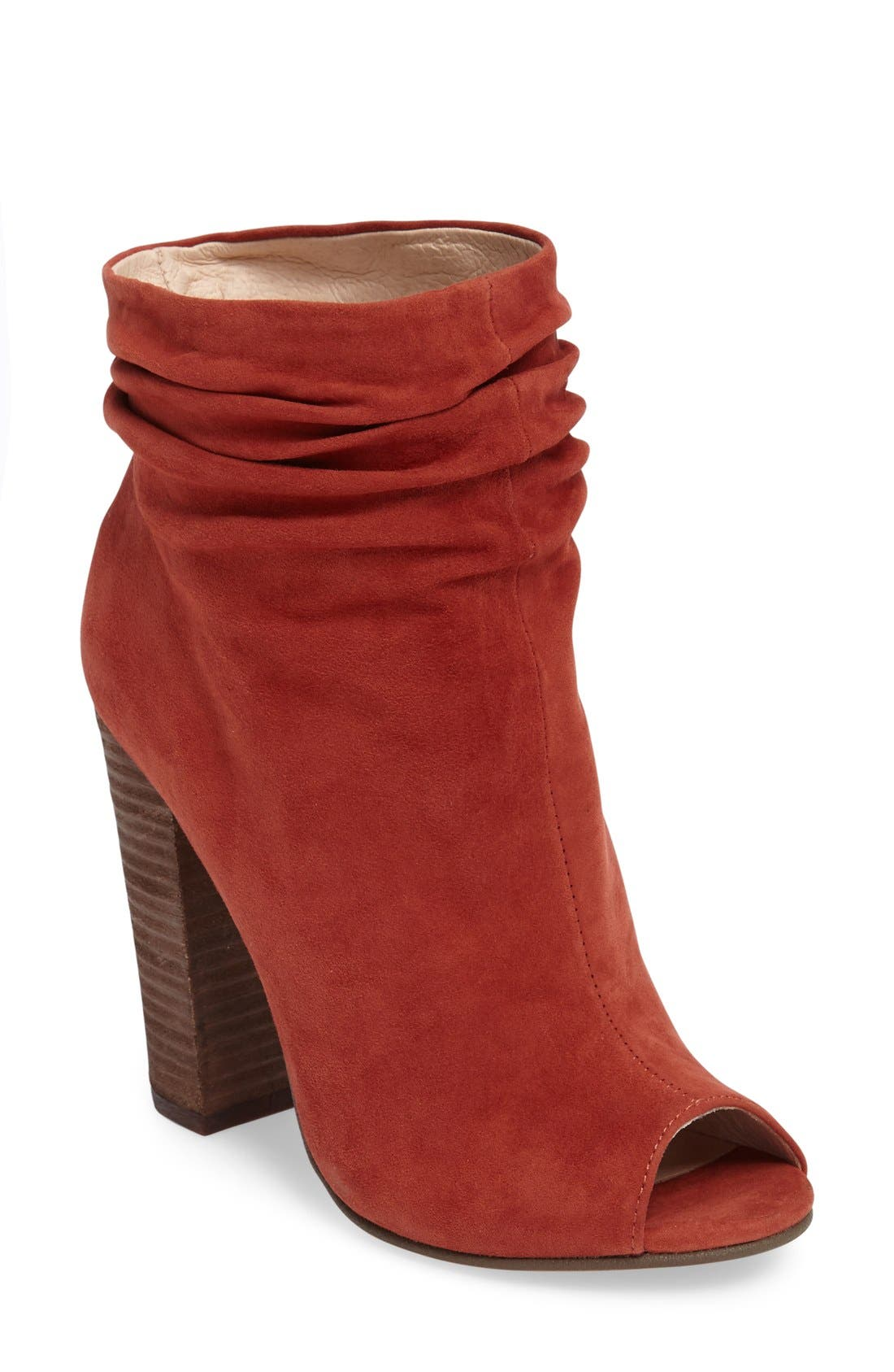 'Laurel' Peep Toe Bootie,                             Main thumbnail 4, color,