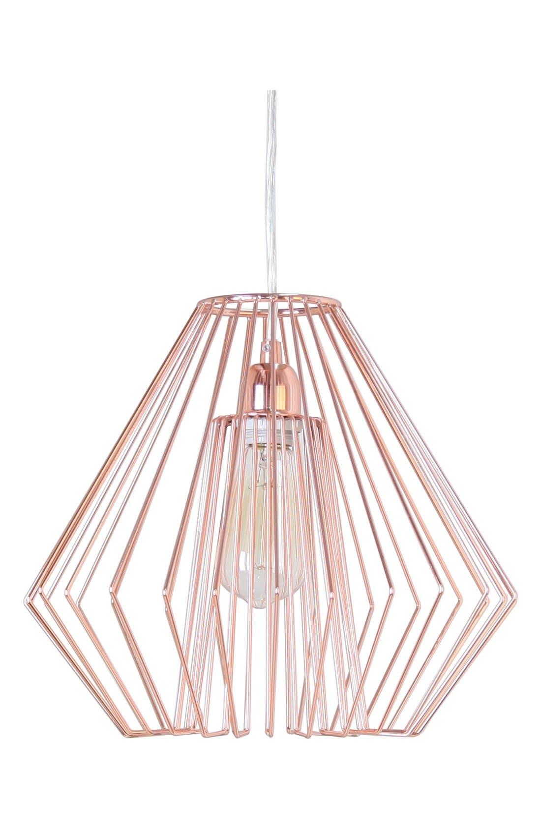 Metallic Hanging Lamp,                             Main thumbnail 1, color,                             220
