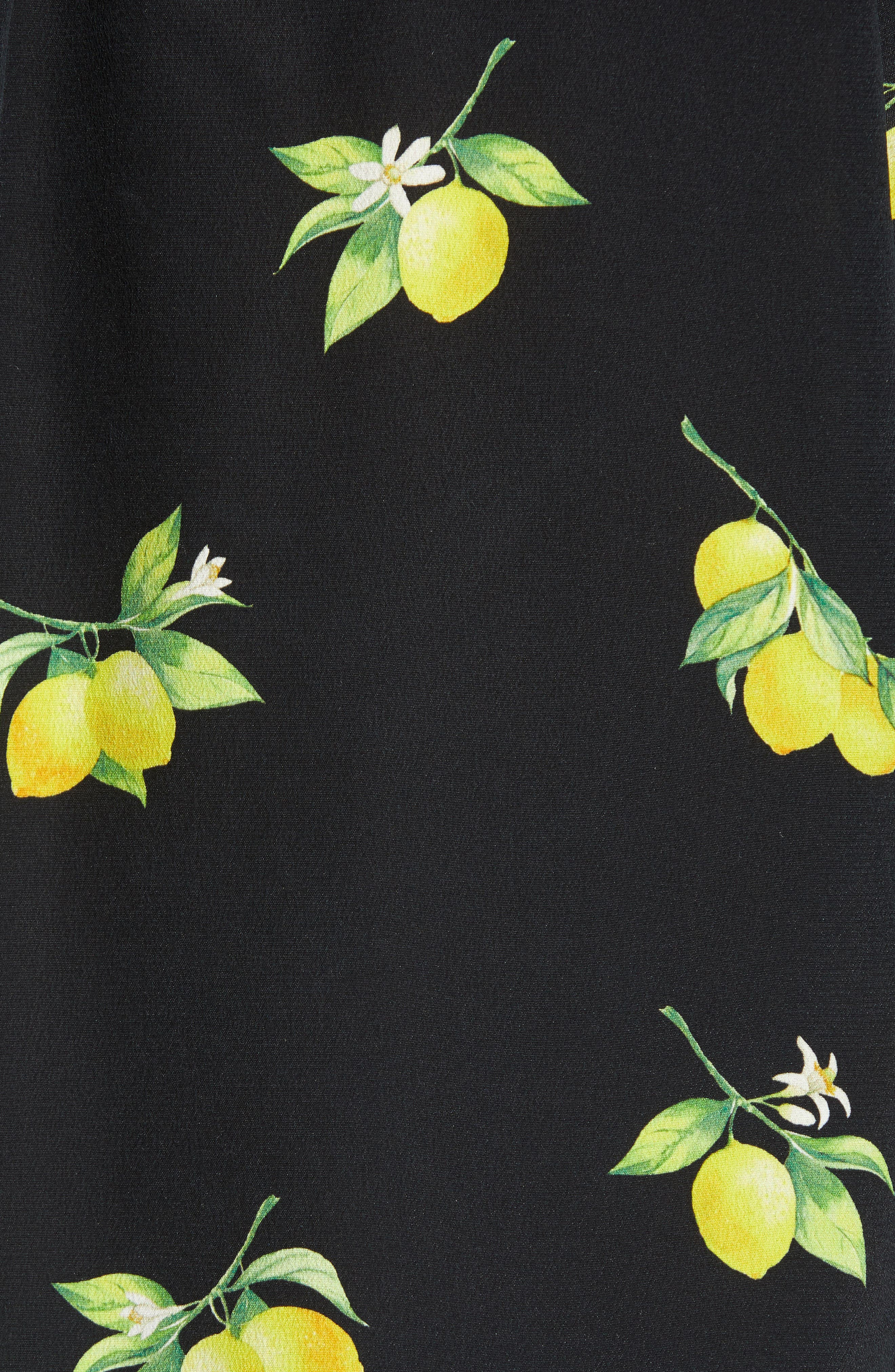 Kate Print Shirt,                             Alternate thumbnail 5, color,                             LEMONS