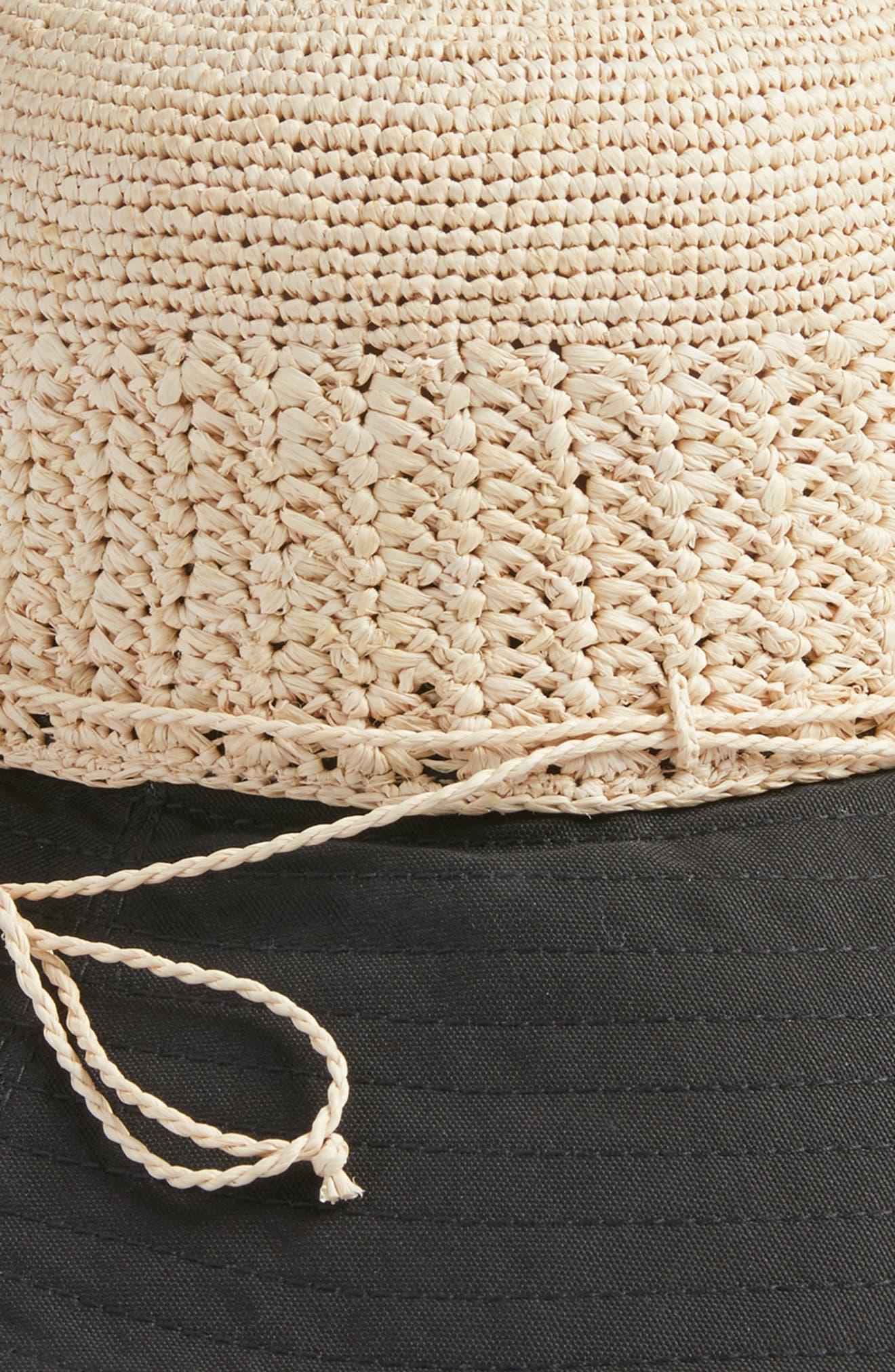 Raffia & Canvas Hat,                             Alternate thumbnail 2, color,