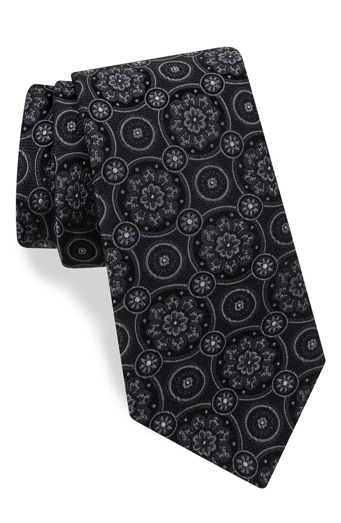 Medallion Silk Tie,                         Main,                         color, 060