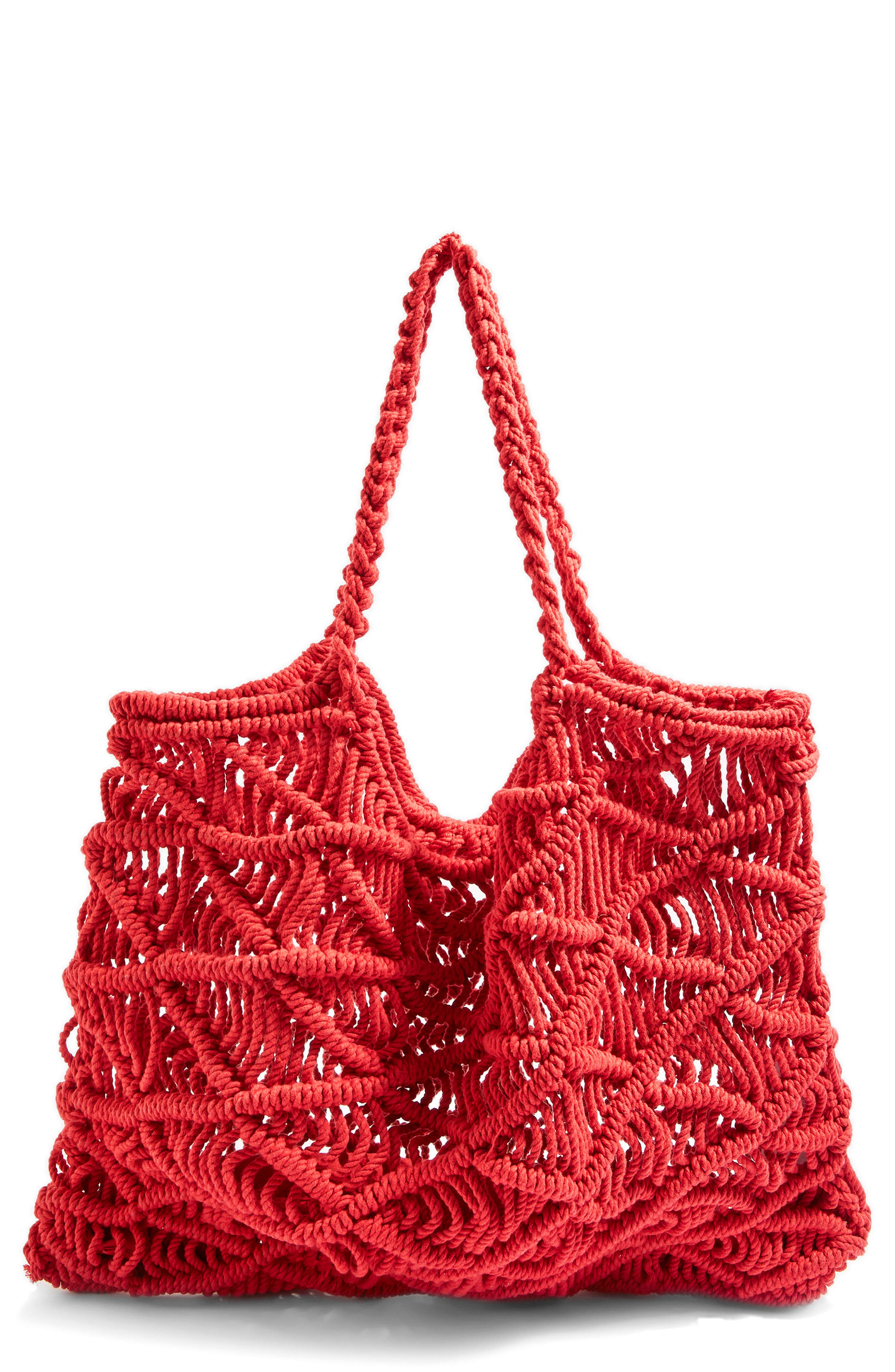 Macramé Tote Bag,                         Main,                         color, 600