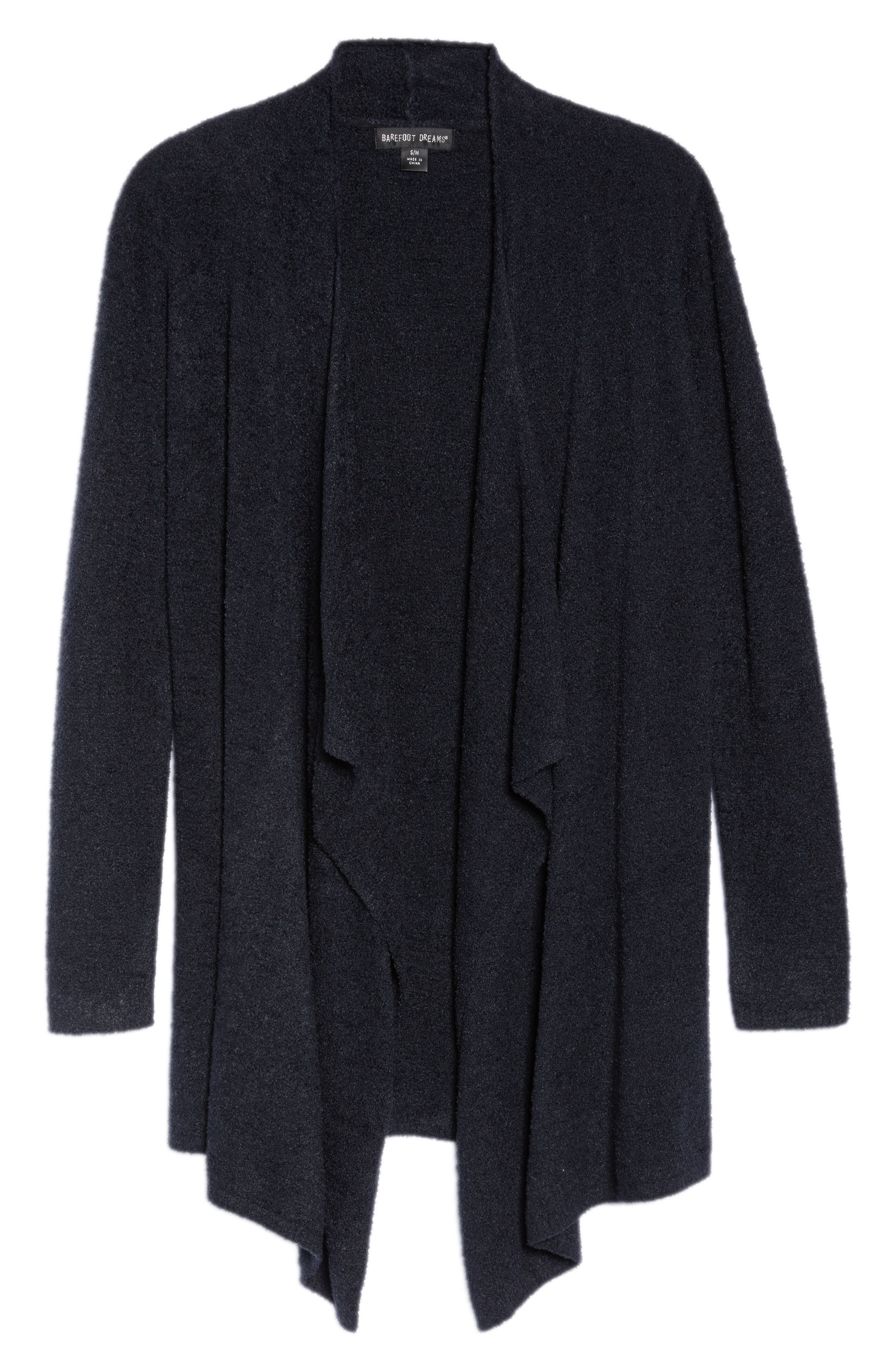 CozyChic Lite<sup>®</sup> Calypso Wrap Cardigan,                             Alternate thumbnail 6, color,                             BLACK