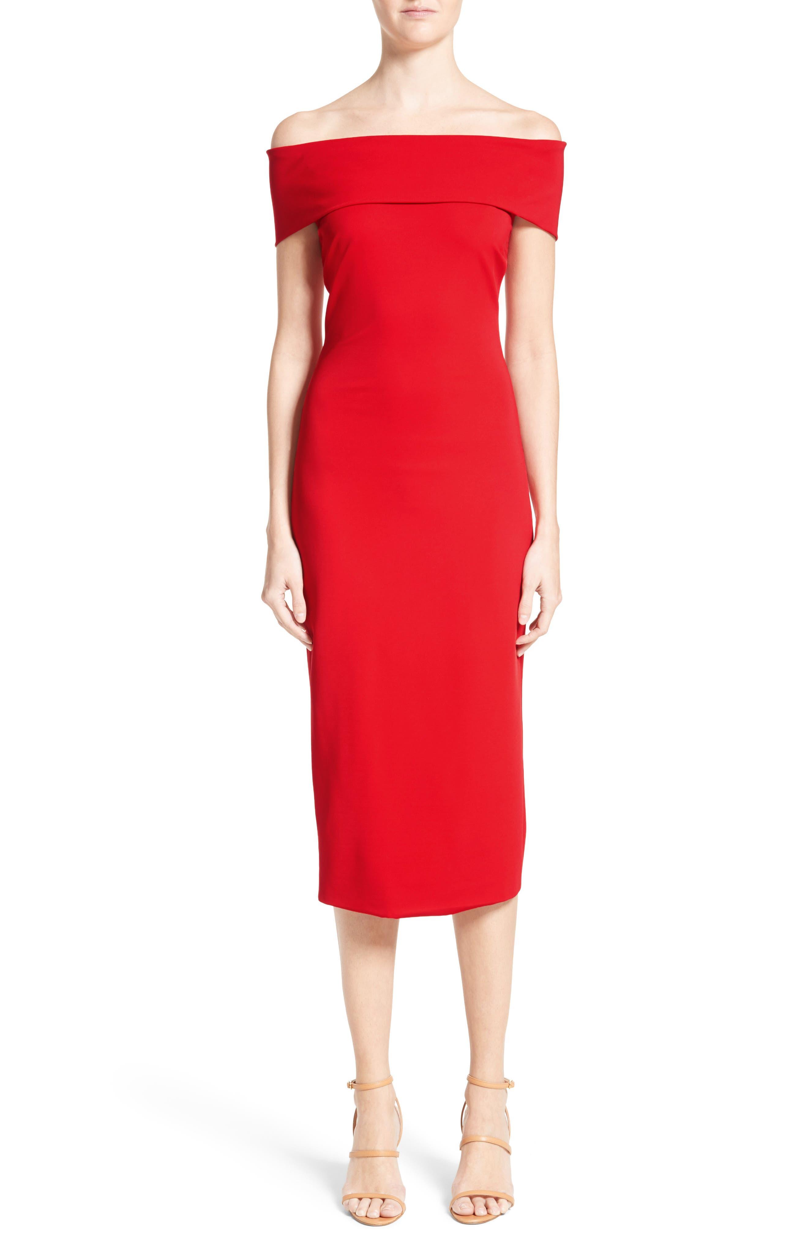Off the Shoulder Pencil Dress,                         Main,                         color, 622