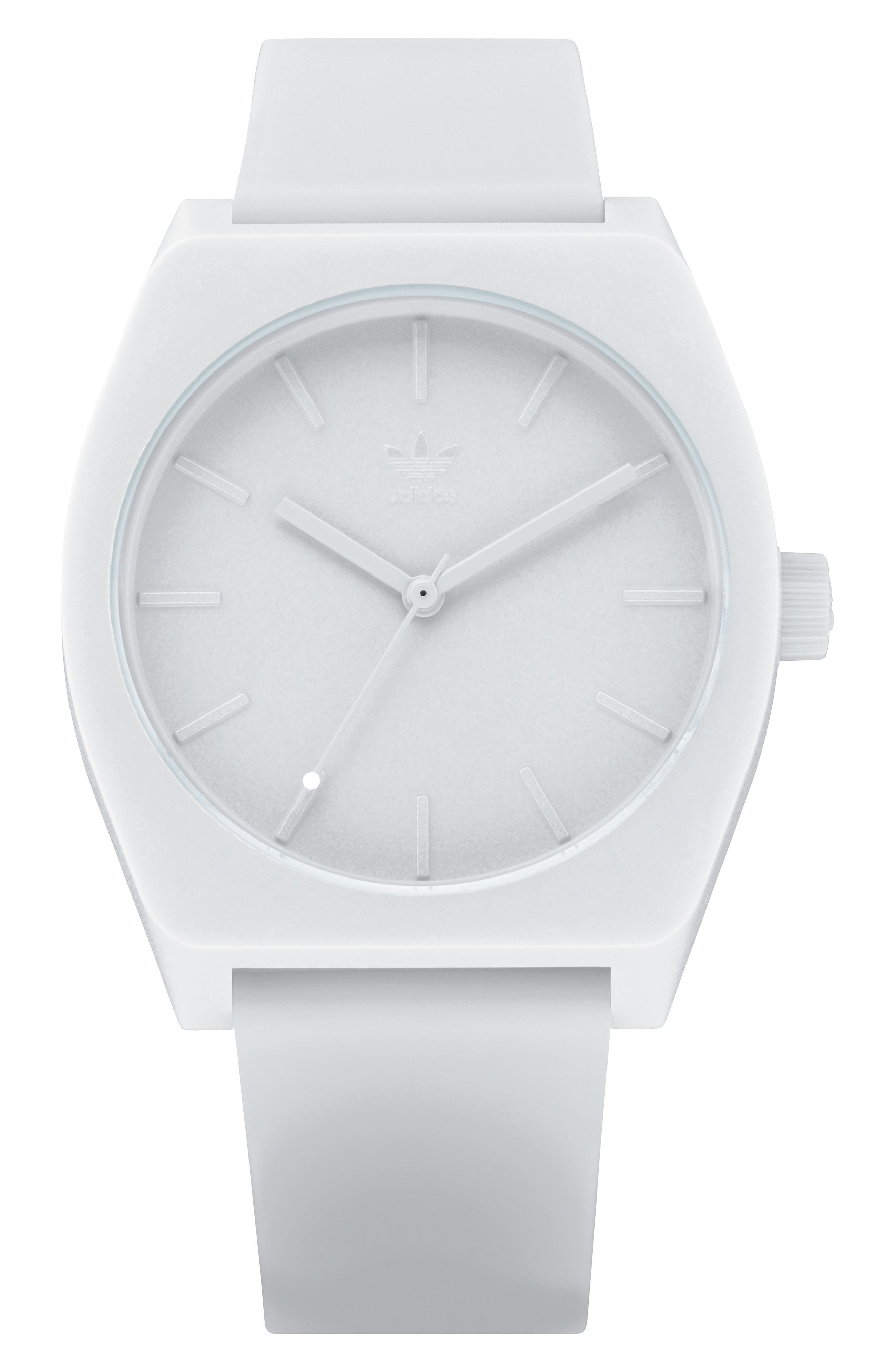 Process Silicone Strap Watch, 38mm,                             Main thumbnail 1, color,                             WHITE