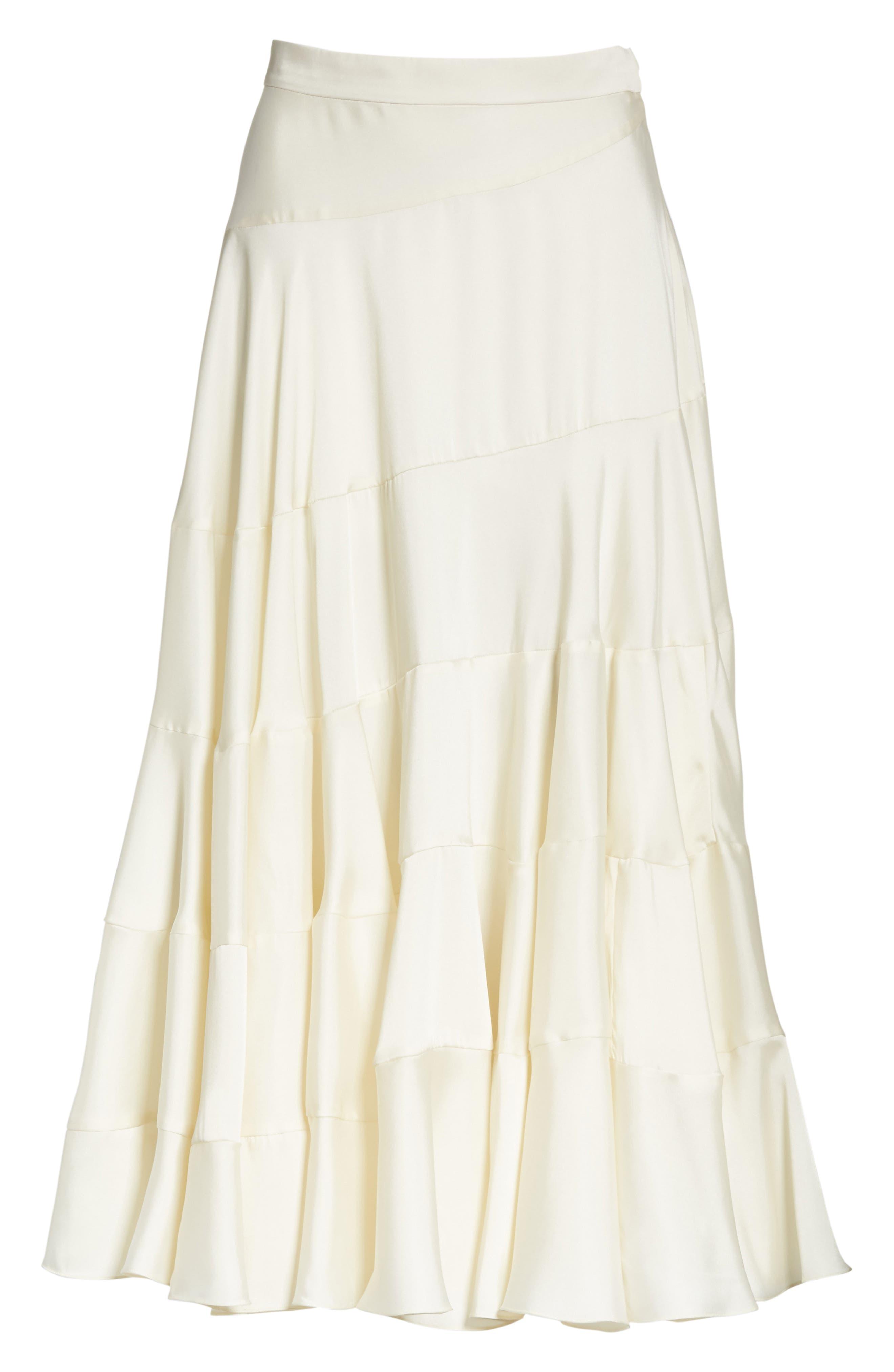 Lasse Satin Paneled Midi Skirt,                             Alternate thumbnail 7, color,