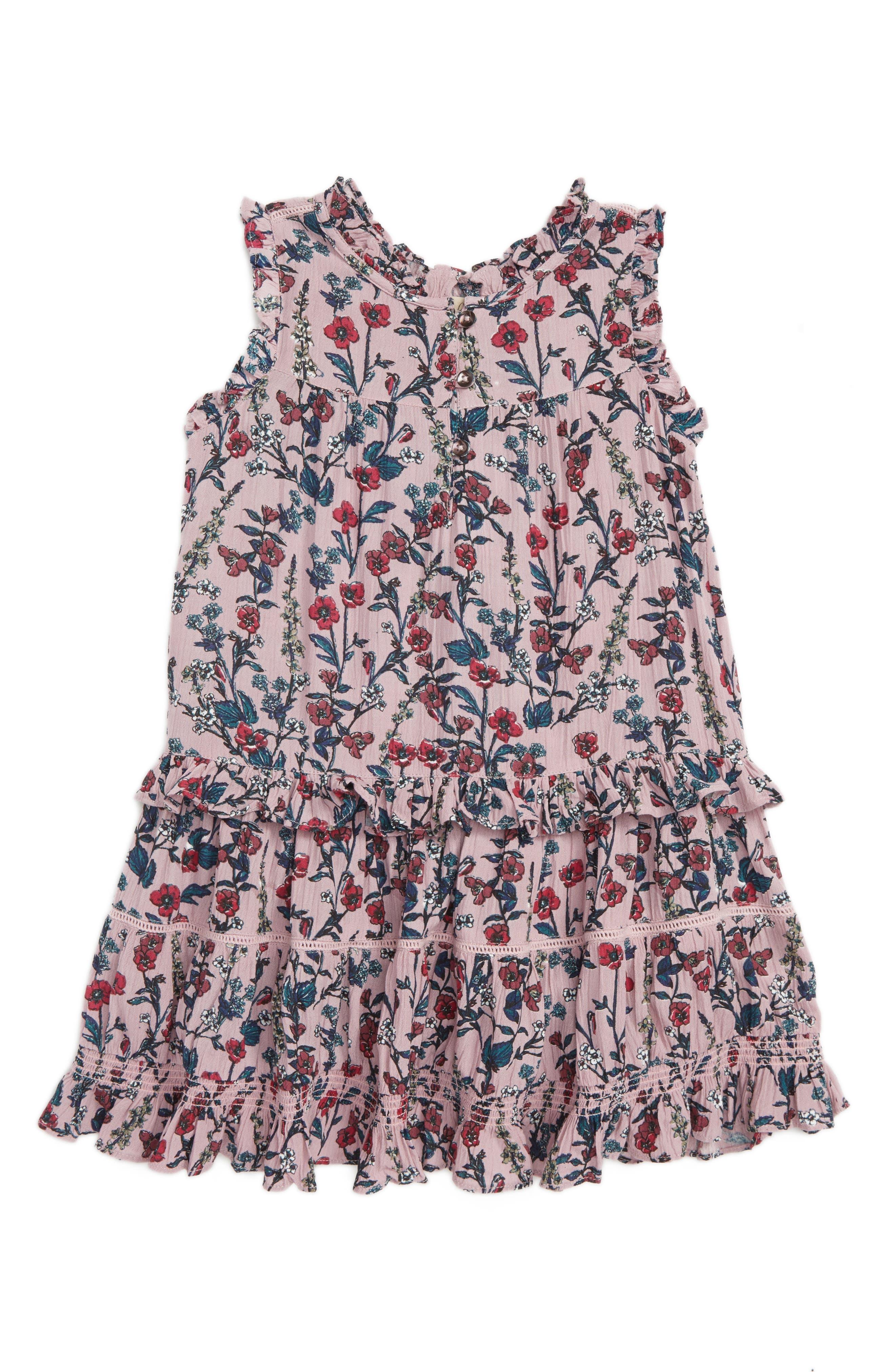 Valerie Sleeveless Ruffle Dress,                         Main,                         color, LILAC