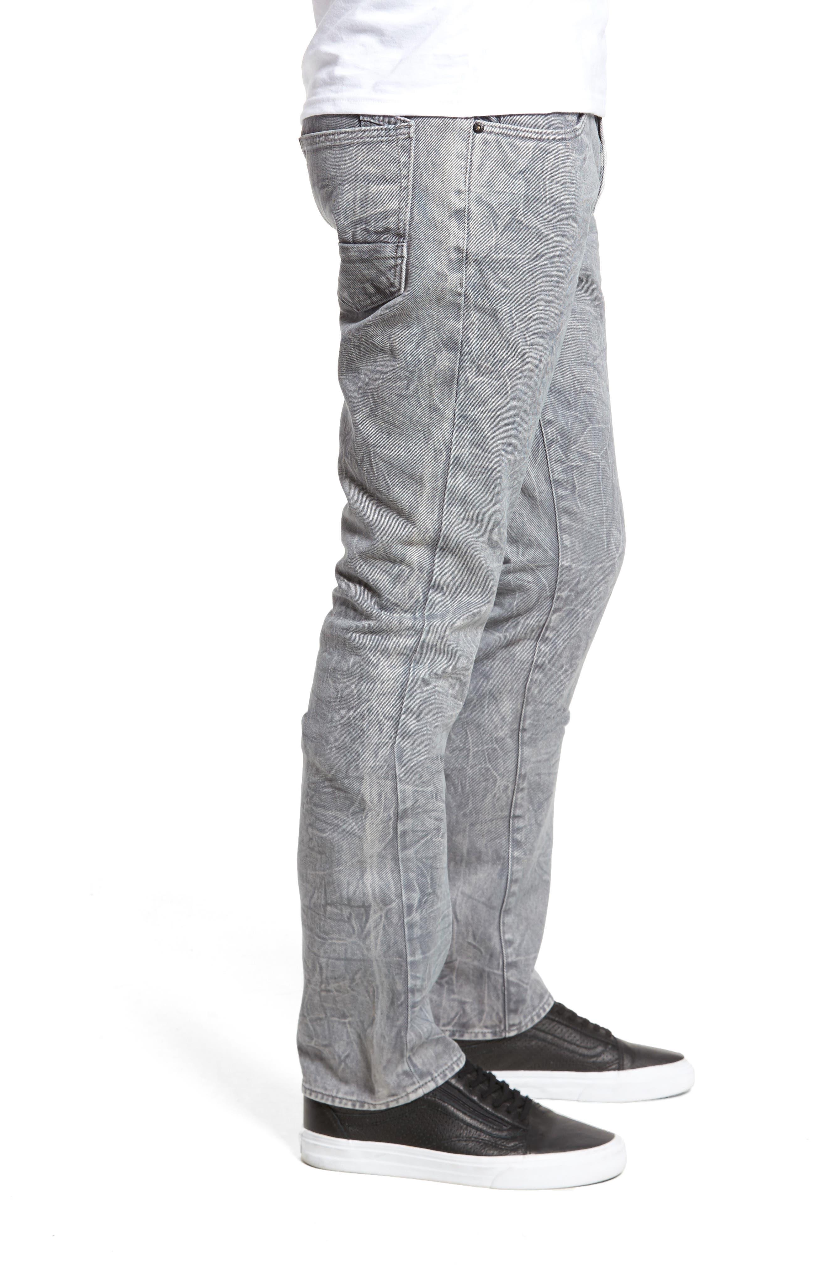 Slim Straight Leg Jeans,                             Alternate thumbnail 3, color,                             020