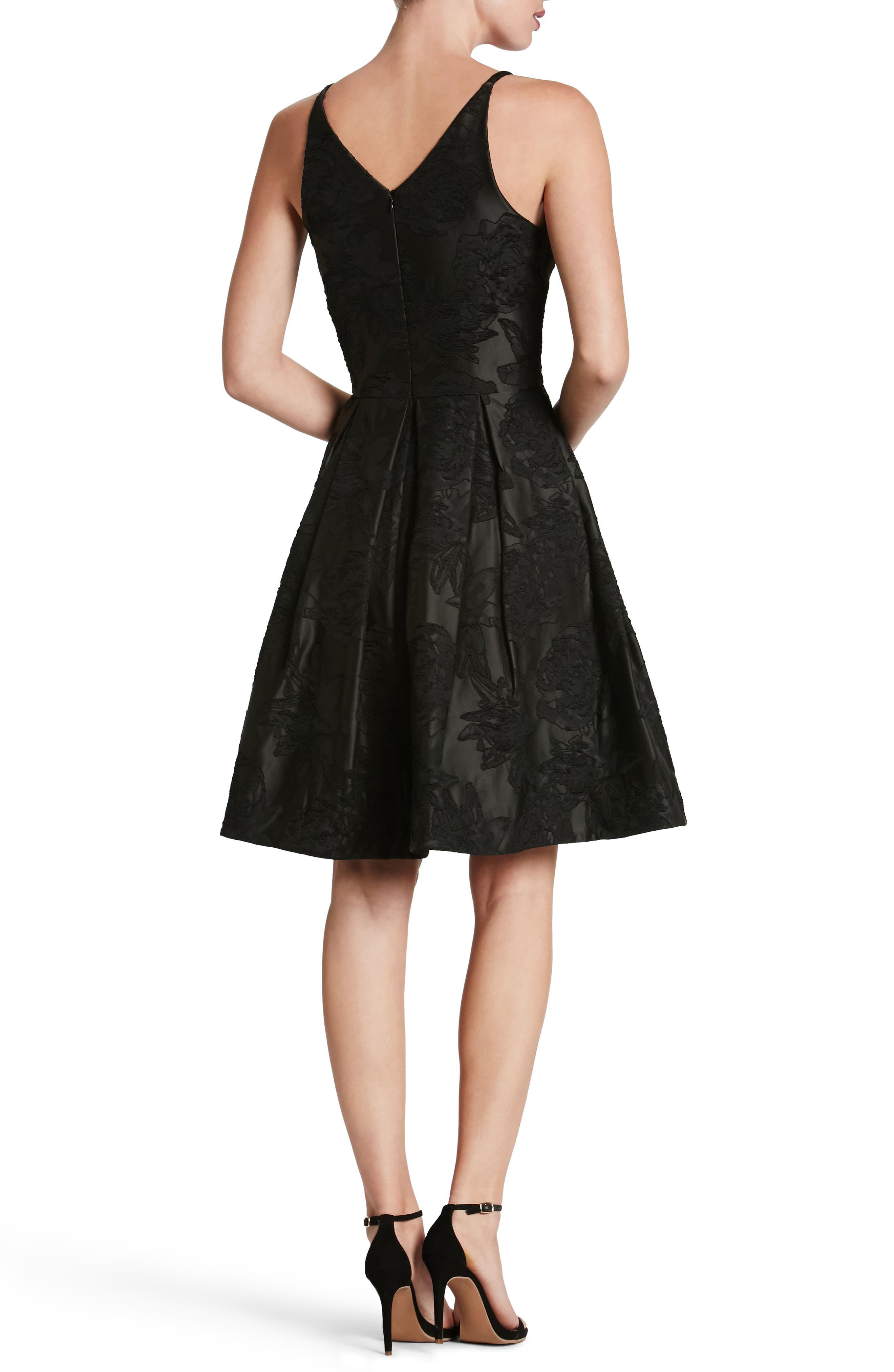 Collette Fit & Flare Dress,                             Alternate thumbnail 2, color,