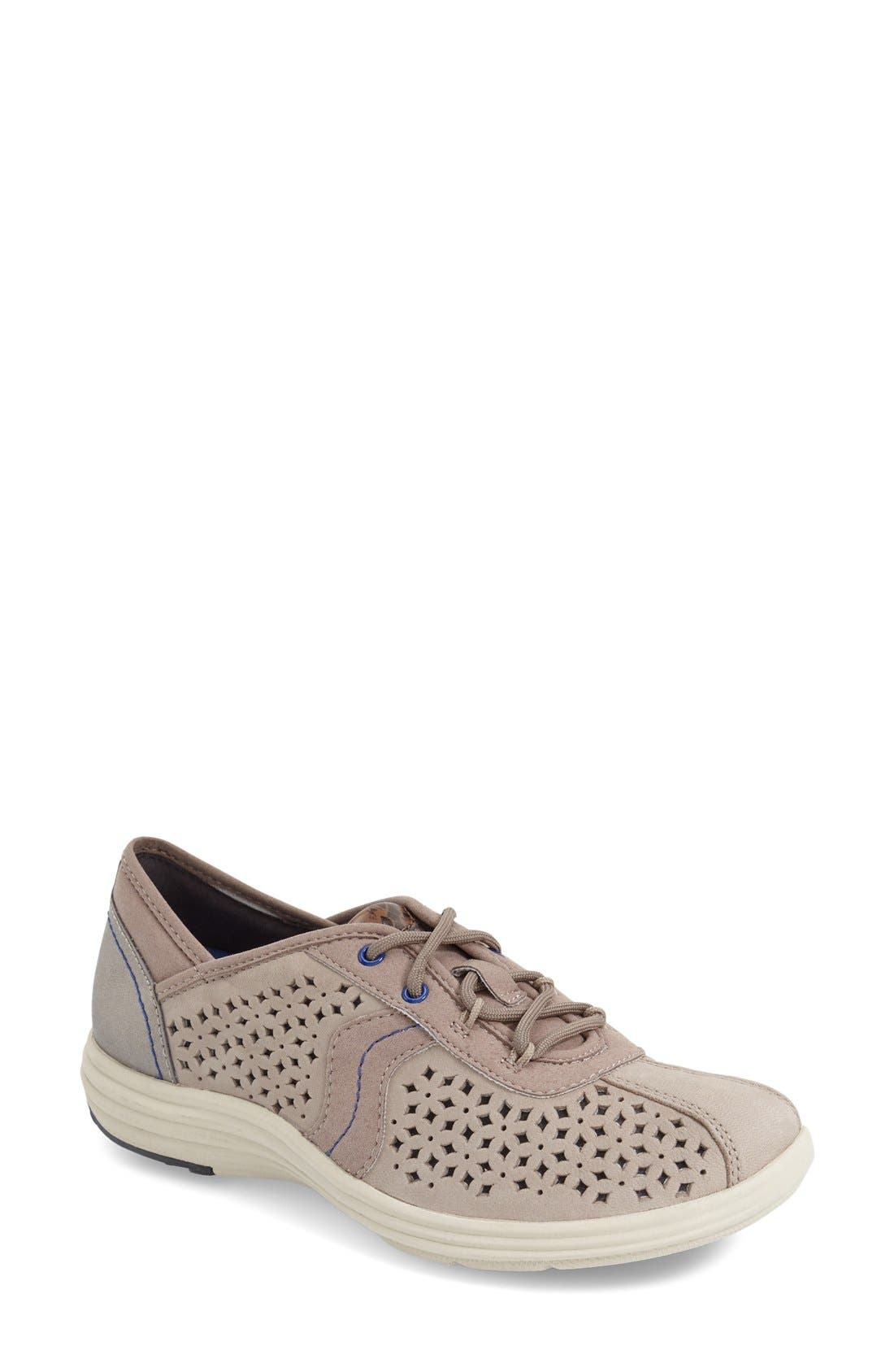 ARAVON 'Betty' Sneaker, Main, color, GREY LEATHER