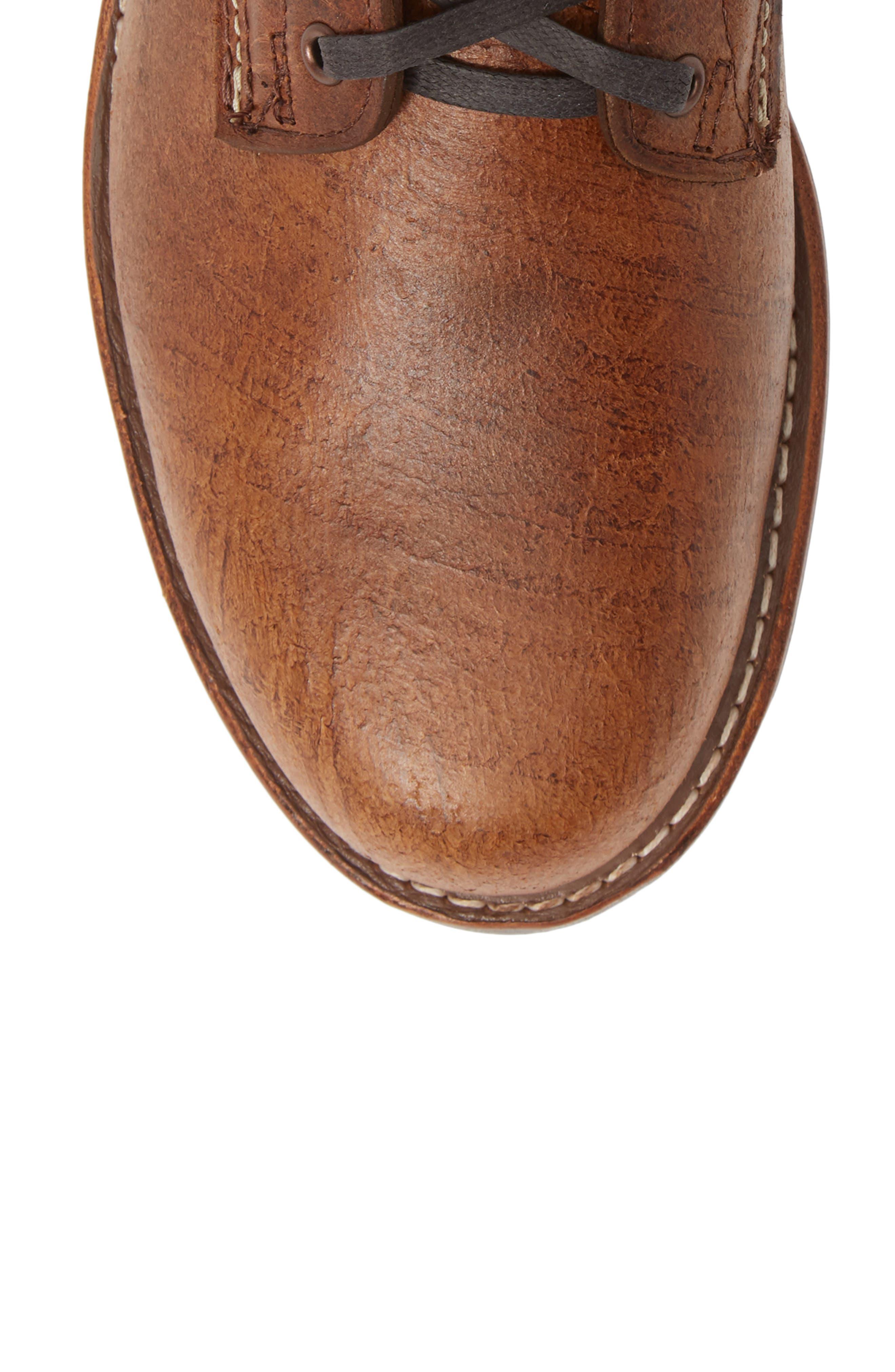 '1000 Mile' Plain Toe Boot,                             Alternate thumbnail 5, color,                             COGNAC