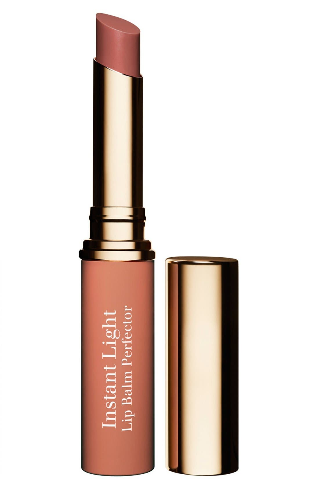 CLARINS,                             Instant Light Lip Balm Perfector,                             Main thumbnail 1, color,                             06-ROSEWOOD