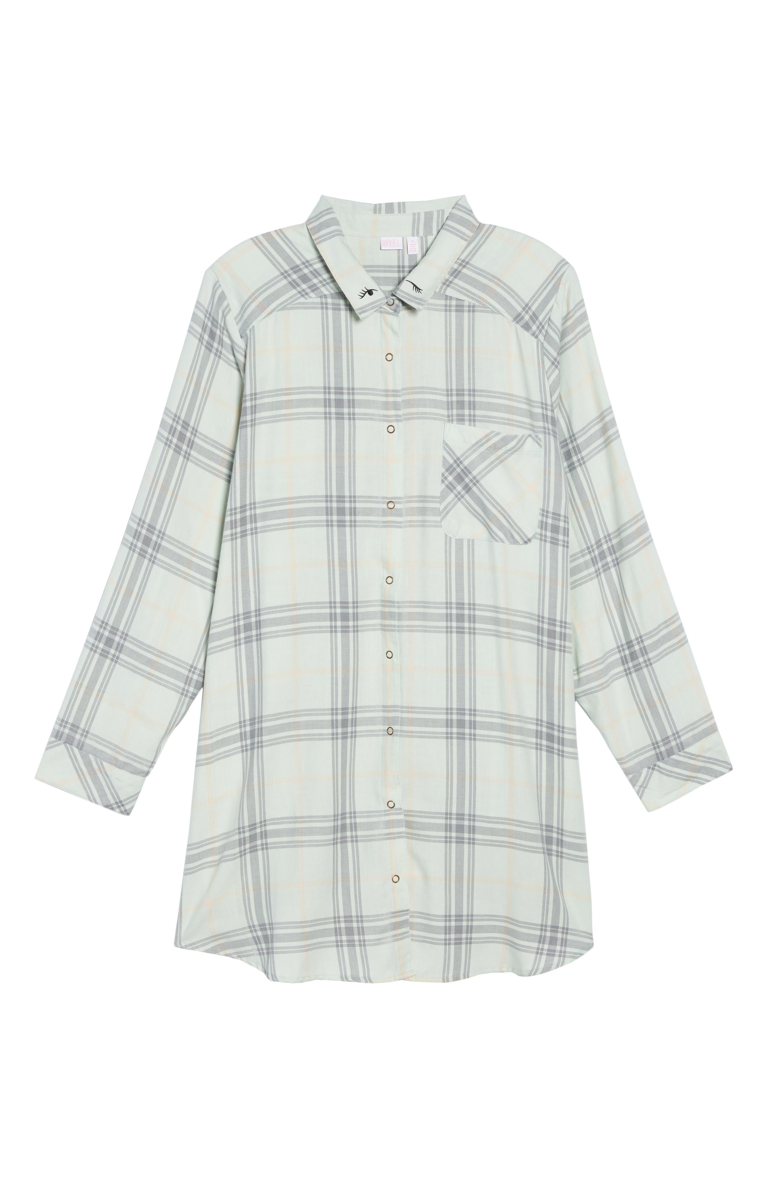 Plaid Night Shirt,                             Alternate thumbnail 32, color,