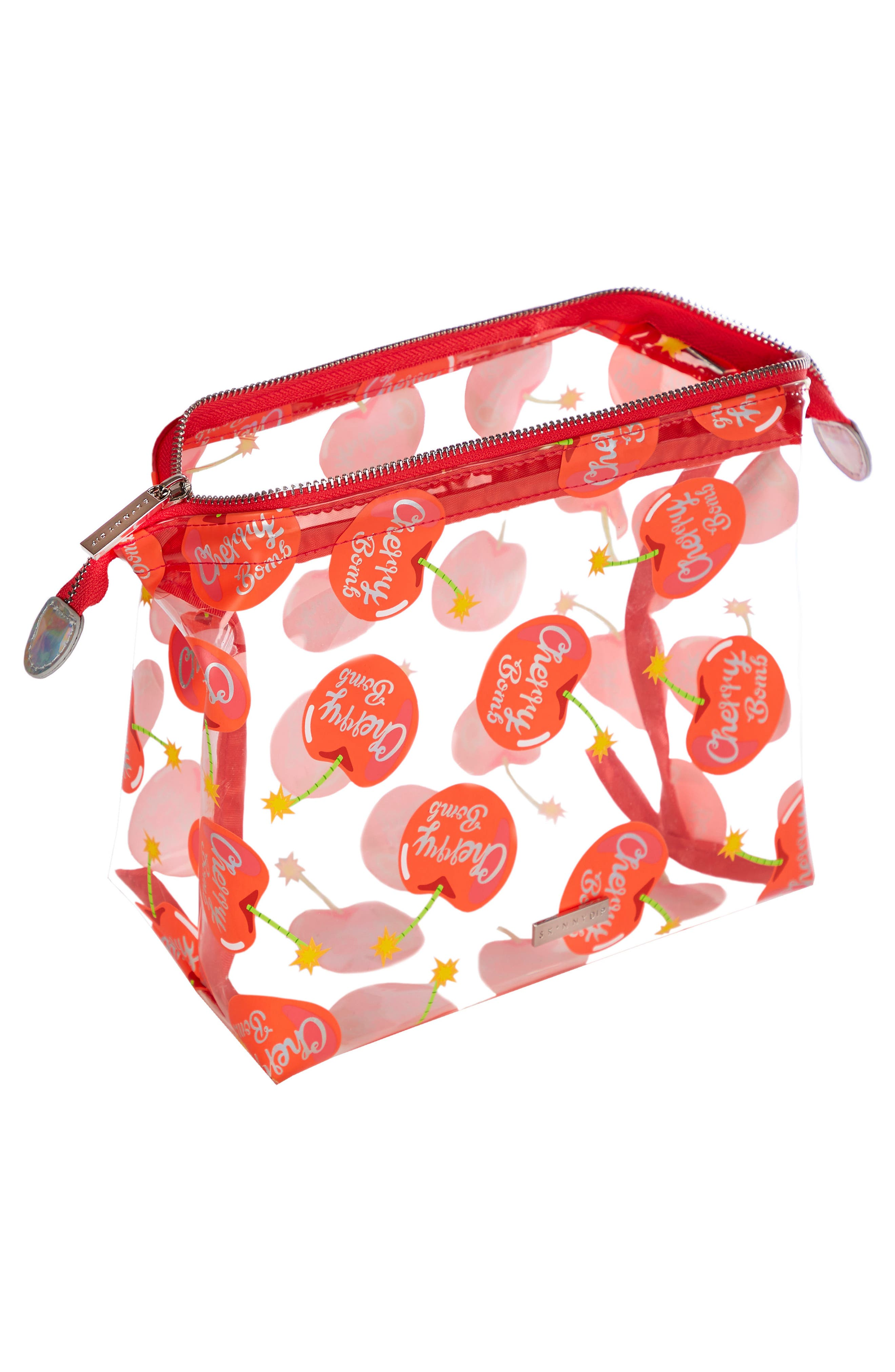 Cherry Bomb Cosmetics Case,                             Alternate thumbnail 2, color,                             NO COLOR