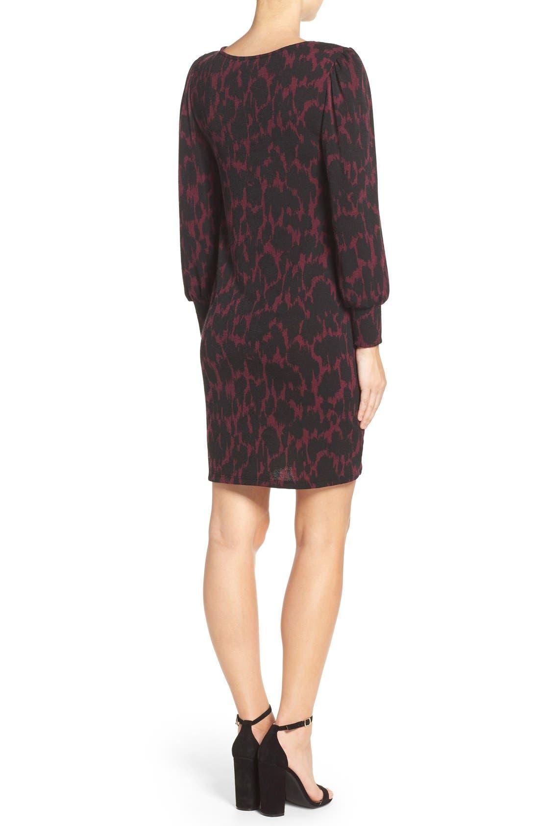 LEOTA,                             'Kate' Static Print Jersey Shift Dress,                             Alternate thumbnail 5, color,                             006
