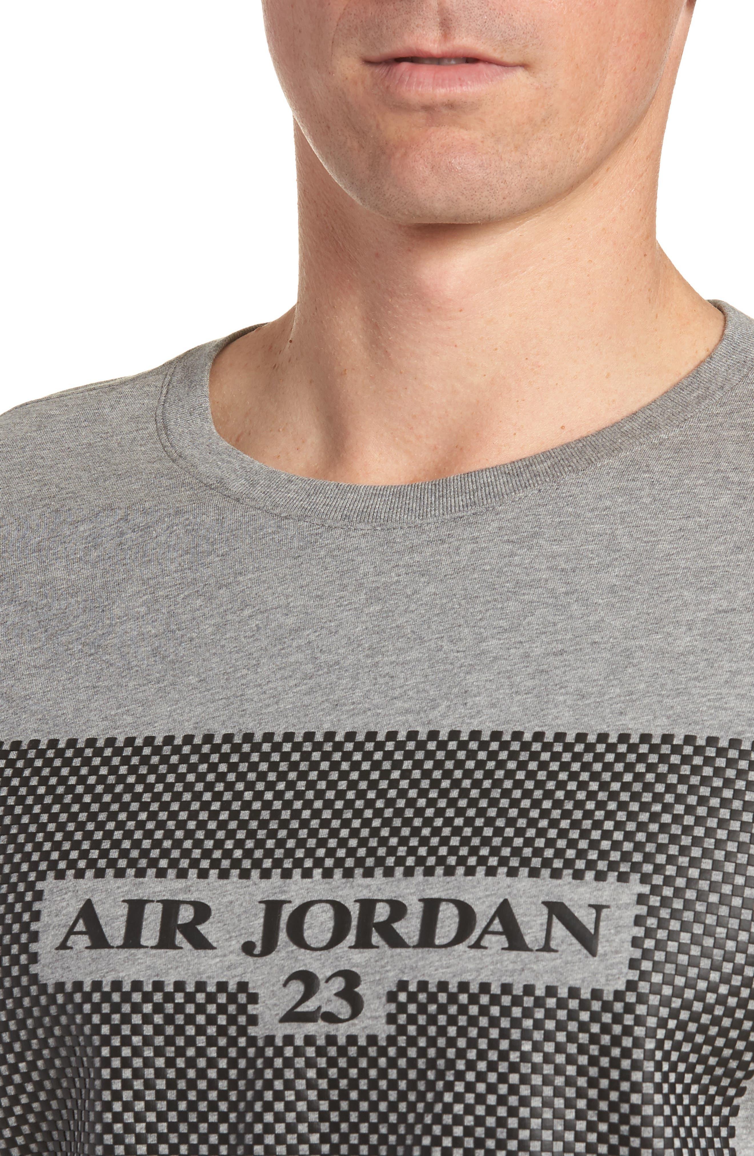 Air Jordan 23 T-Shirt,                             Alternate thumbnail 4, color,                             CARBON HEATHER/ BLACK