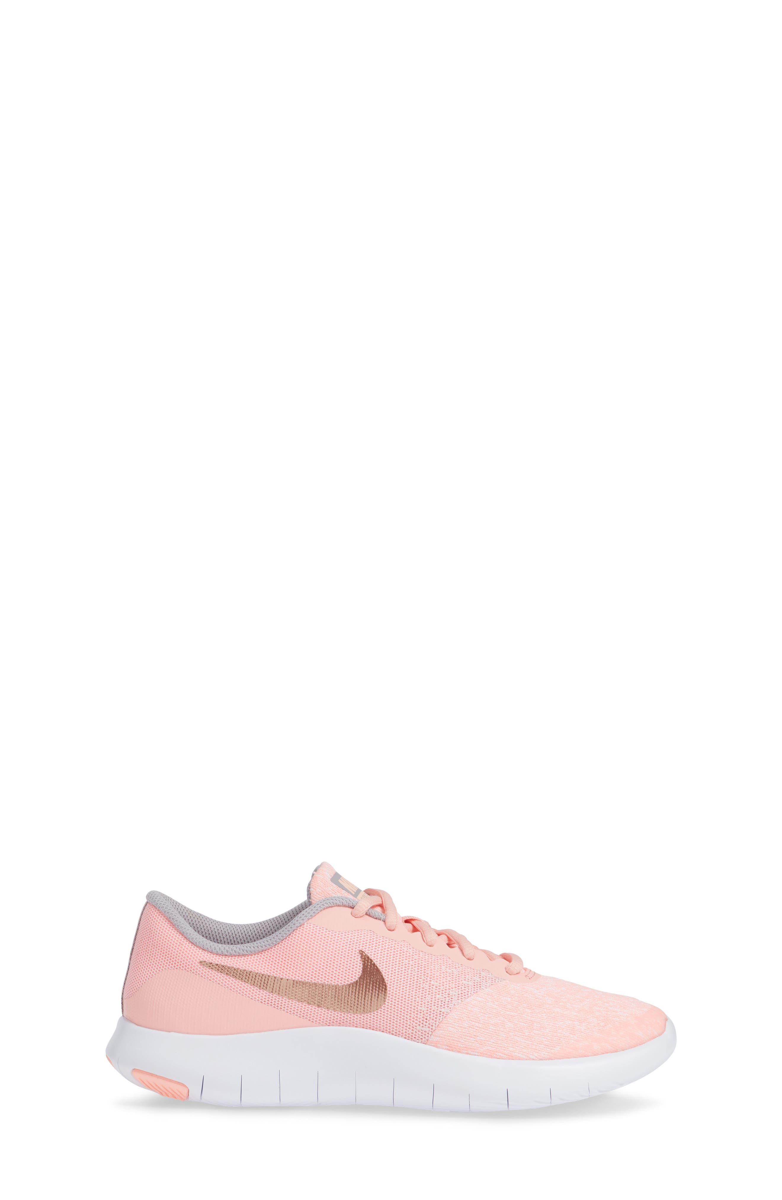 Flex Contact Running Shoe,                             Alternate thumbnail 3, color,                             ROSE GOLD/ STORM PINK